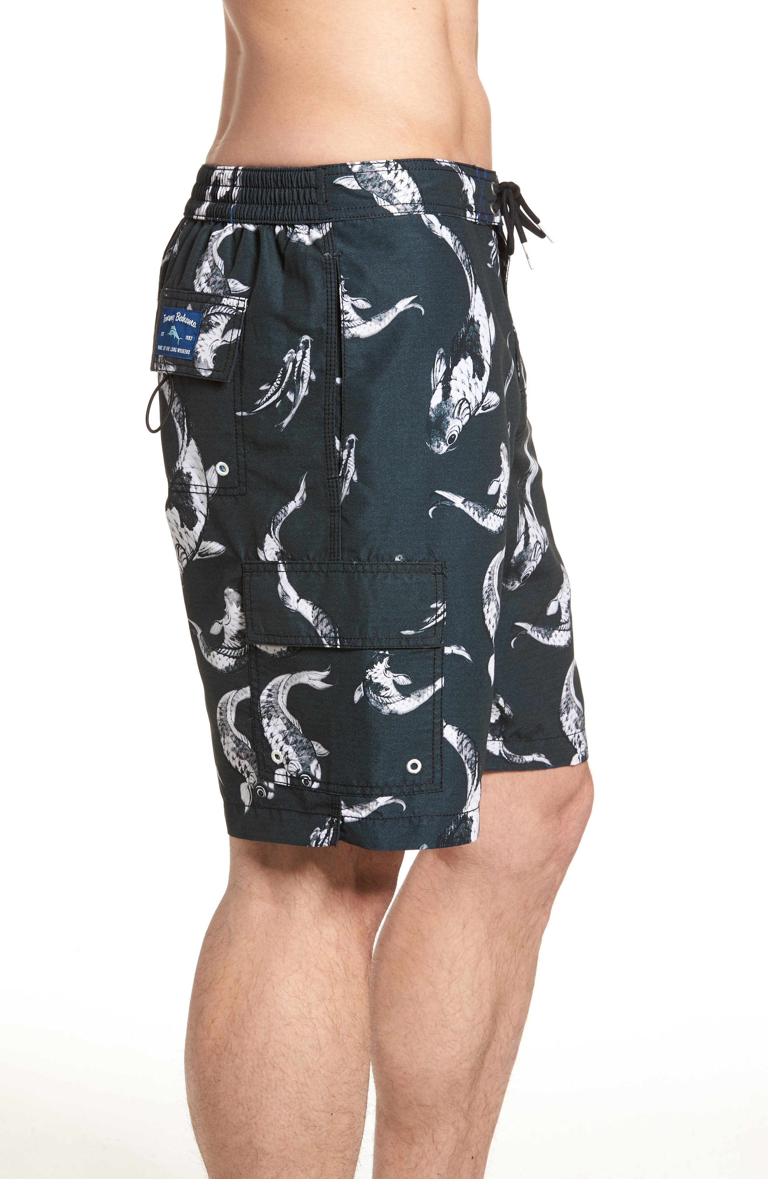 Baja Kois Are Back in Town Board Shorts,                             Alternate thumbnail 4, color,                             001