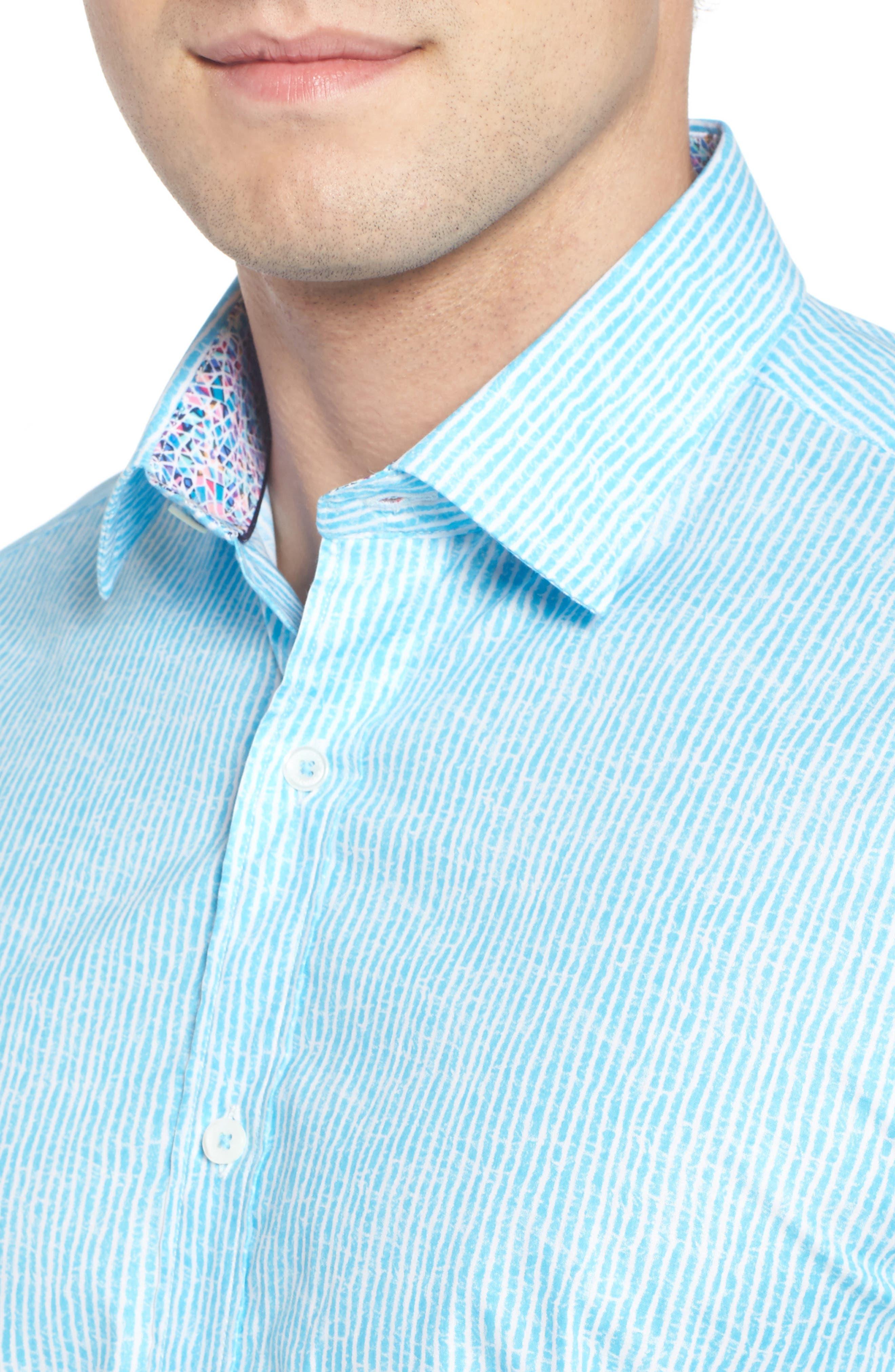 Shaped Fit Stripe Sport Shirt,                             Alternate thumbnail 29, color,