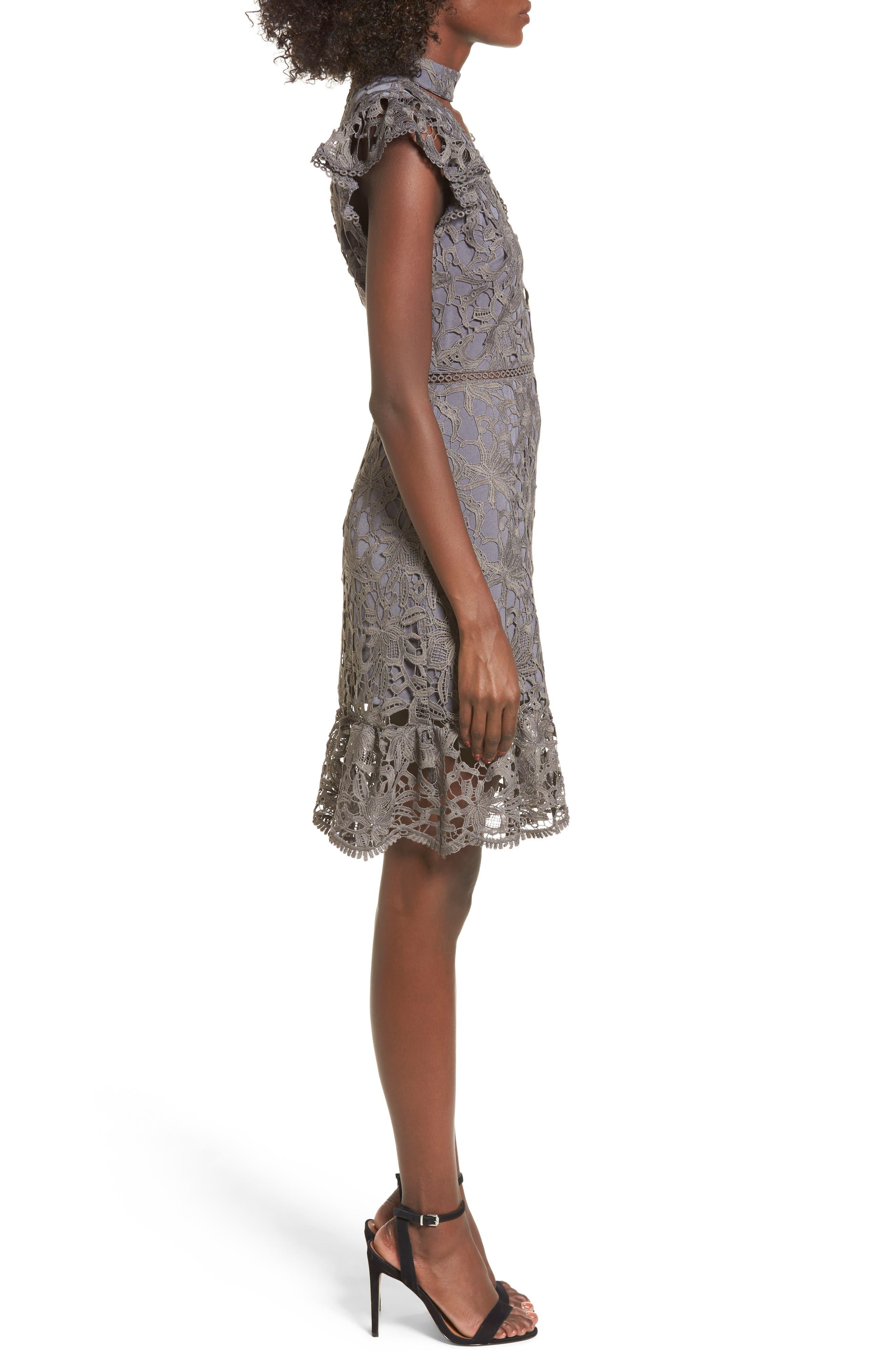 Choker Lace Dress,                             Alternate thumbnail 3, color,                             020