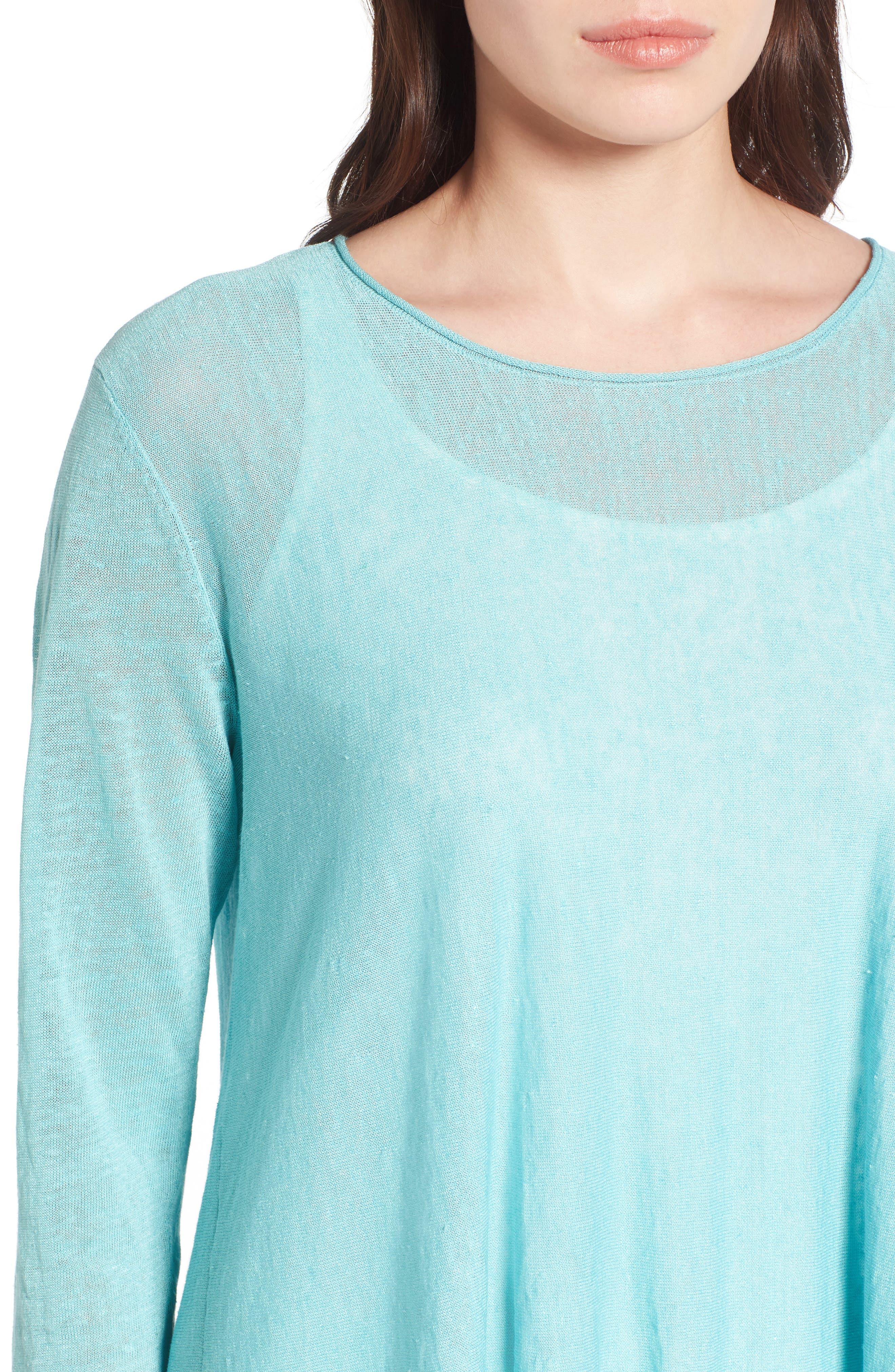 Organic Linen Blend Swing Sweater,                             Alternate thumbnail 33, color,