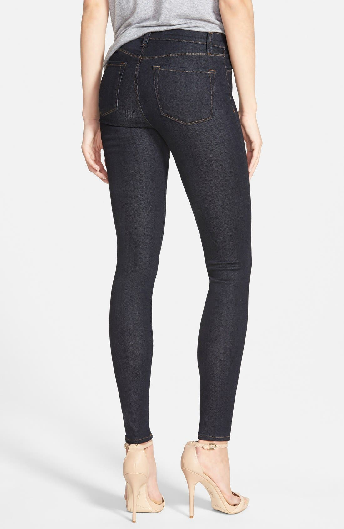 Maria High Waist Super Skinny Jeans,                             Alternate thumbnail 8, color,                             AFTER DARK