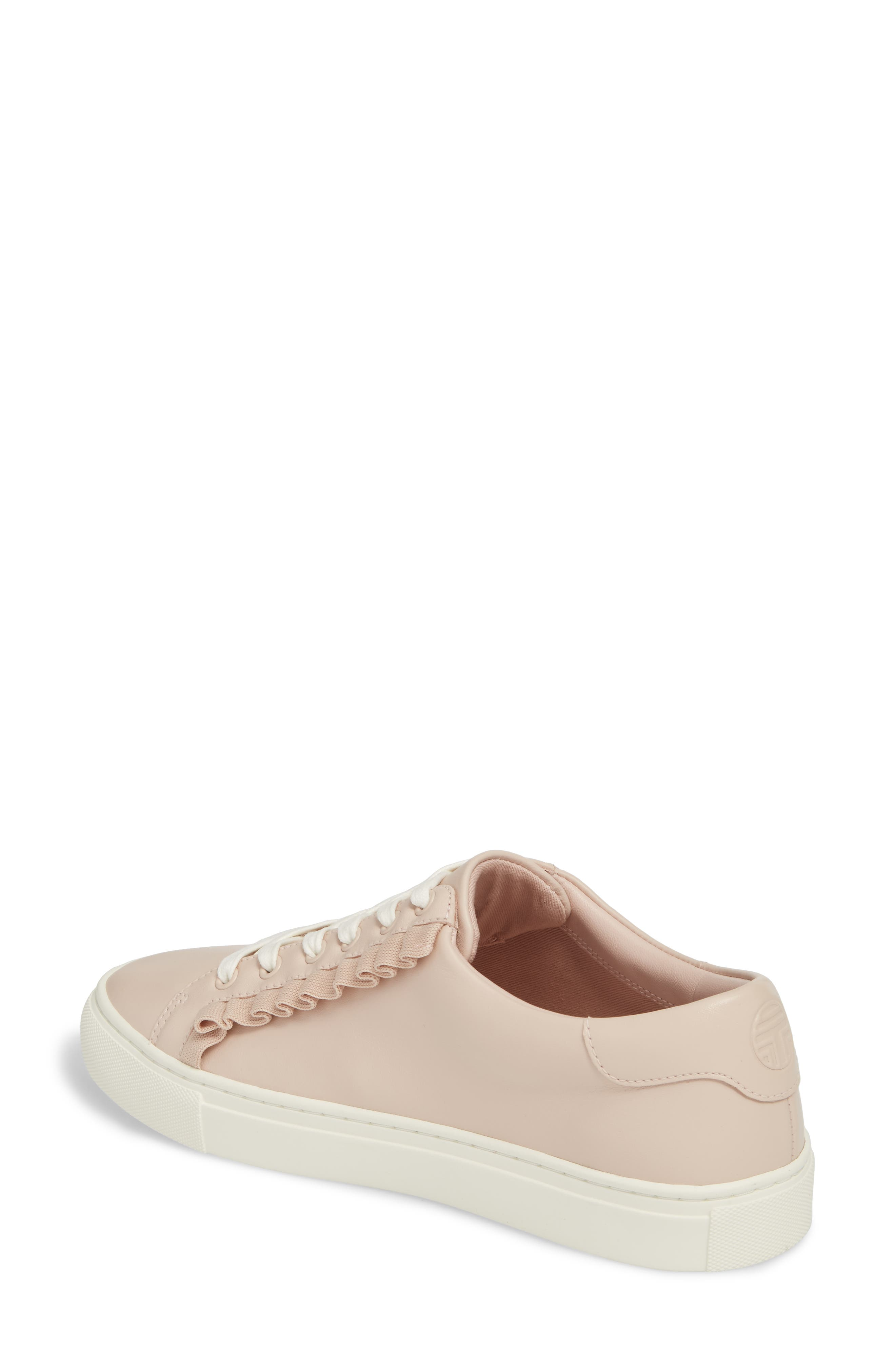 Ruffle Sneaker,                             Alternate thumbnail 2, color,                             SHELL PINK