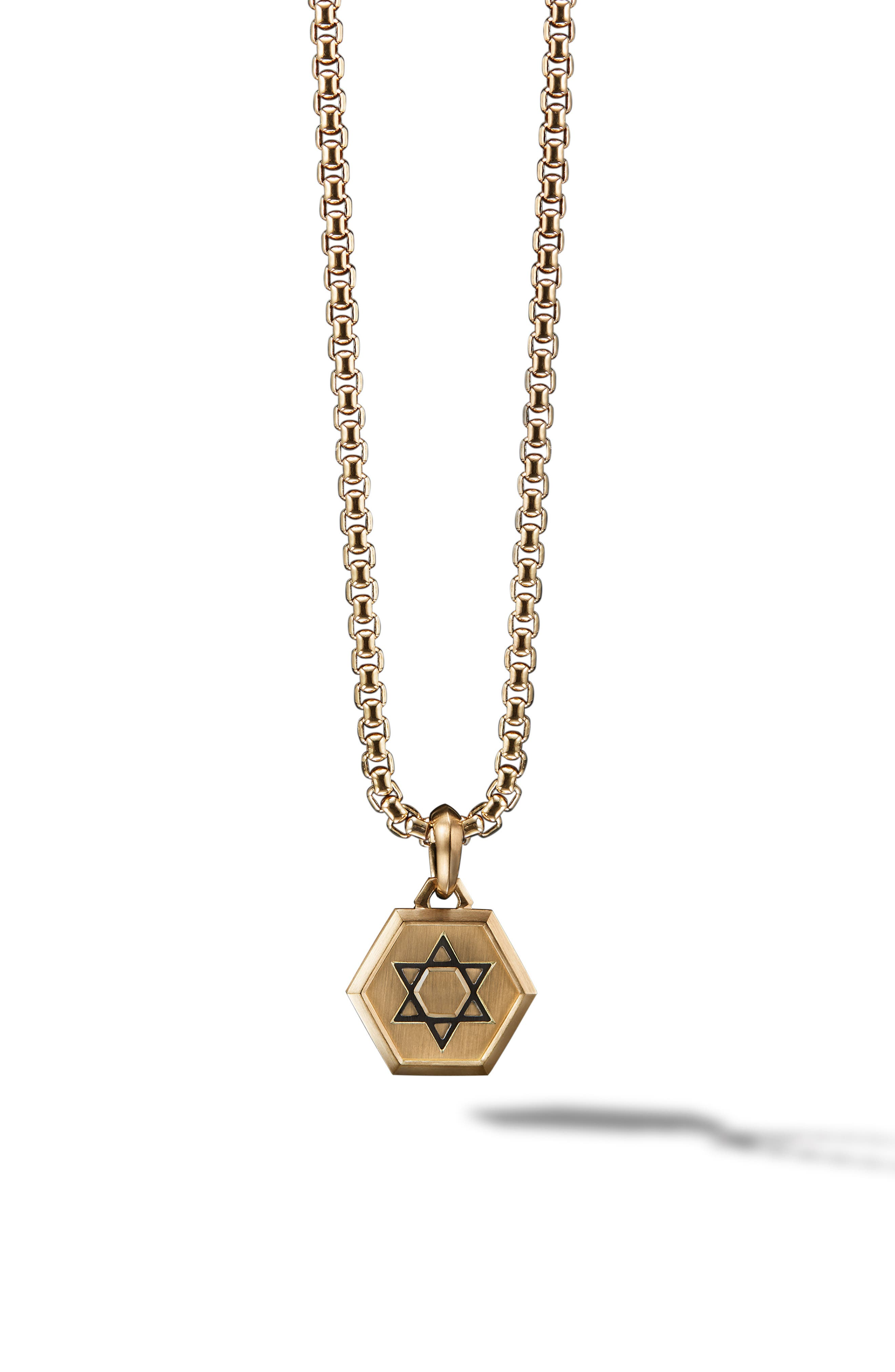 Star of David 18K Gold Amulet Enhancer,                             Main thumbnail 1, color,                             GOLD