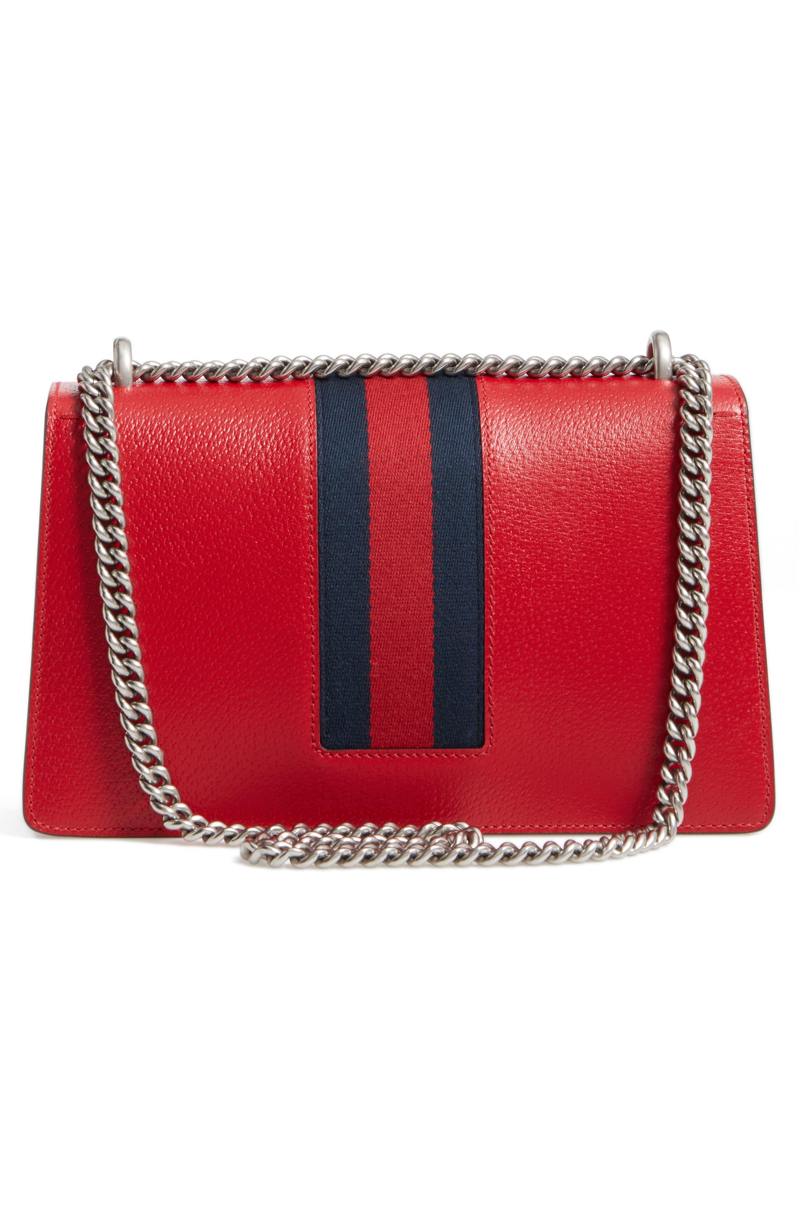 Dionysus Leather Shoulder Bag,                             Alternate thumbnail 3, color,                             625