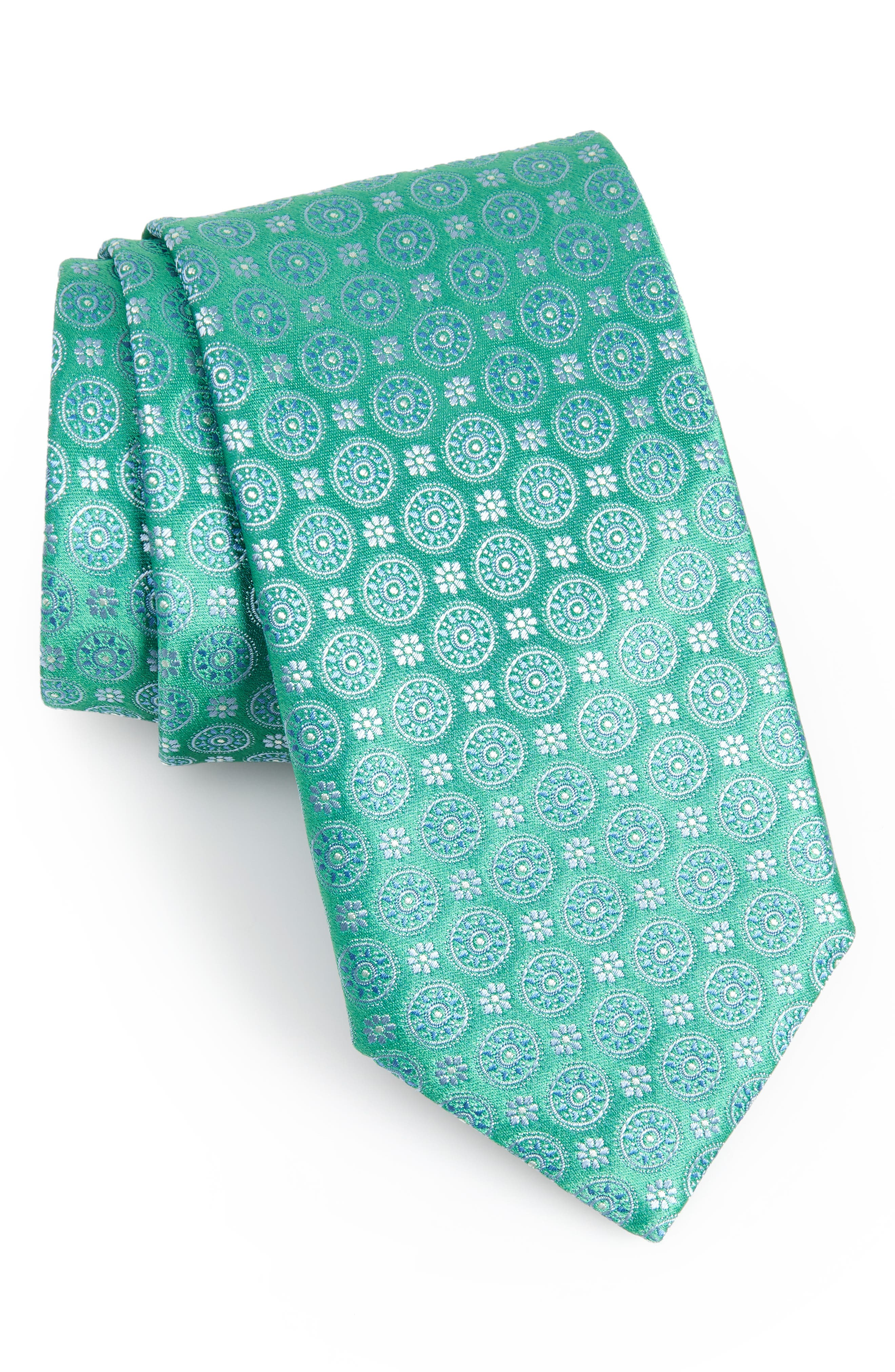 Geometric Silk Tie,                         Main,                         color,