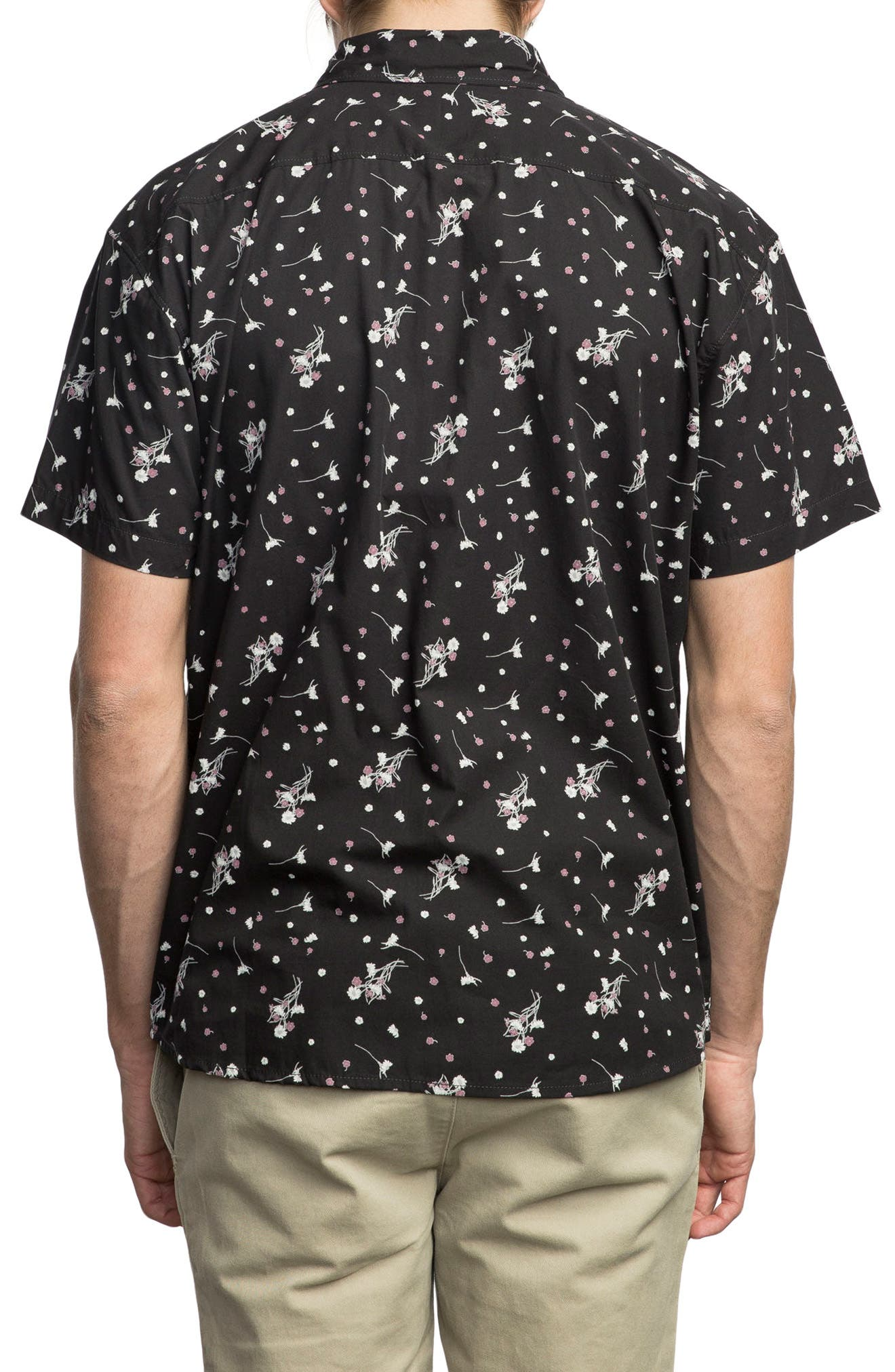 Print Woven Shirt,                             Alternate thumbnail 2, color,                             001
