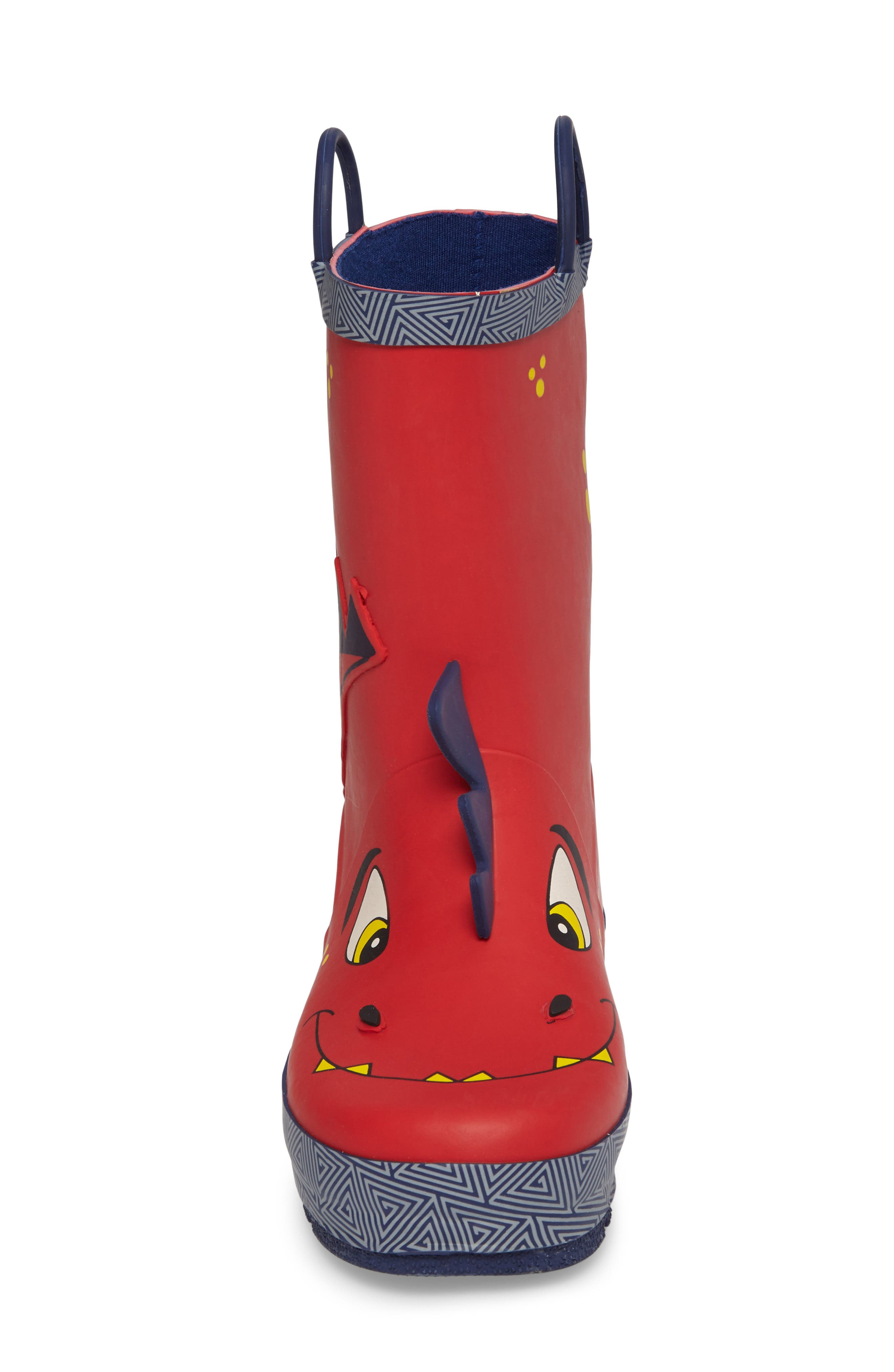 Spike Rain Boot,                             Alternate thumbnail 4, color,                             RED