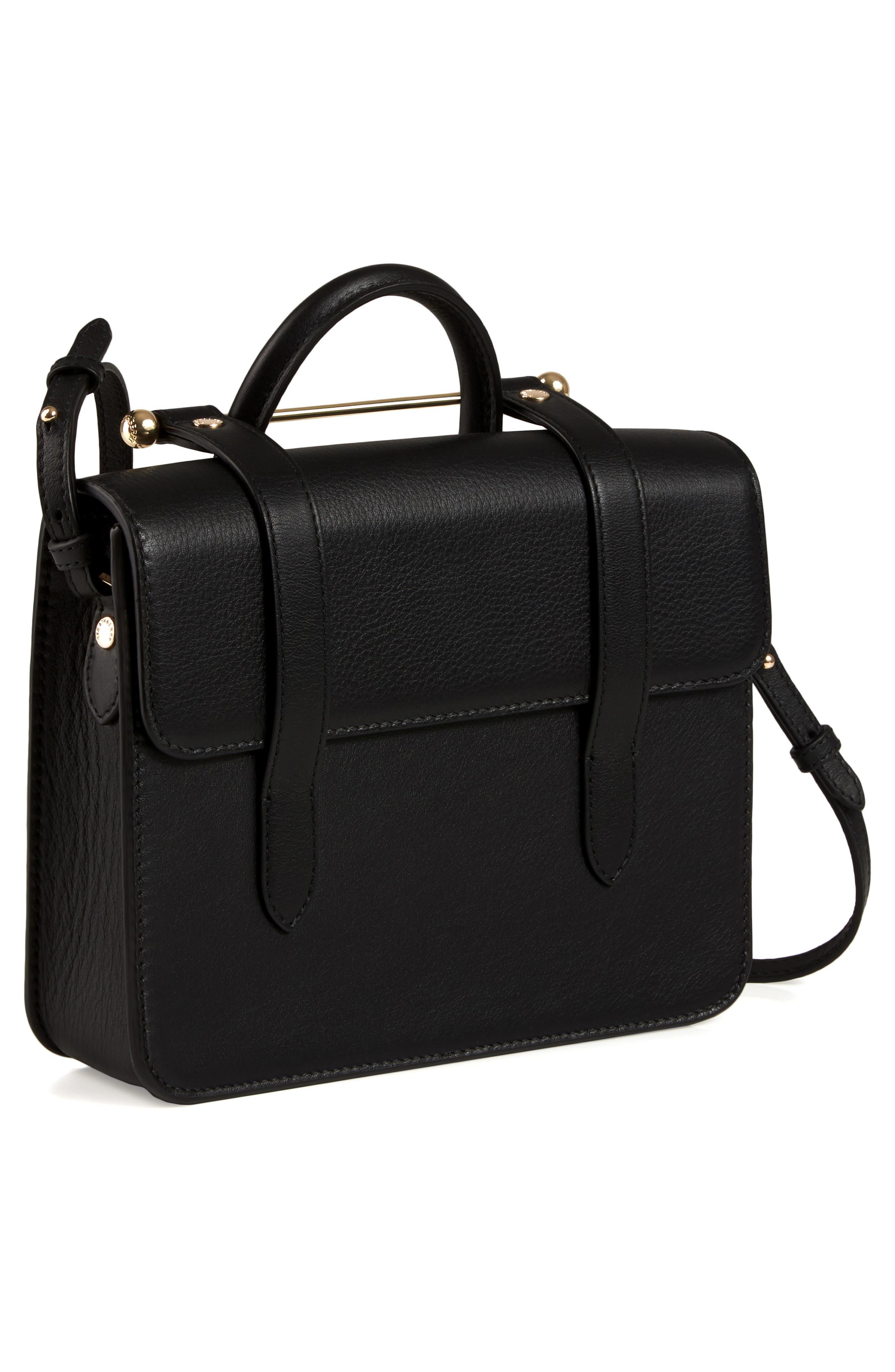 MC Mini Leather Crossbody Bag,                             Alternate thumbnail 7, color,