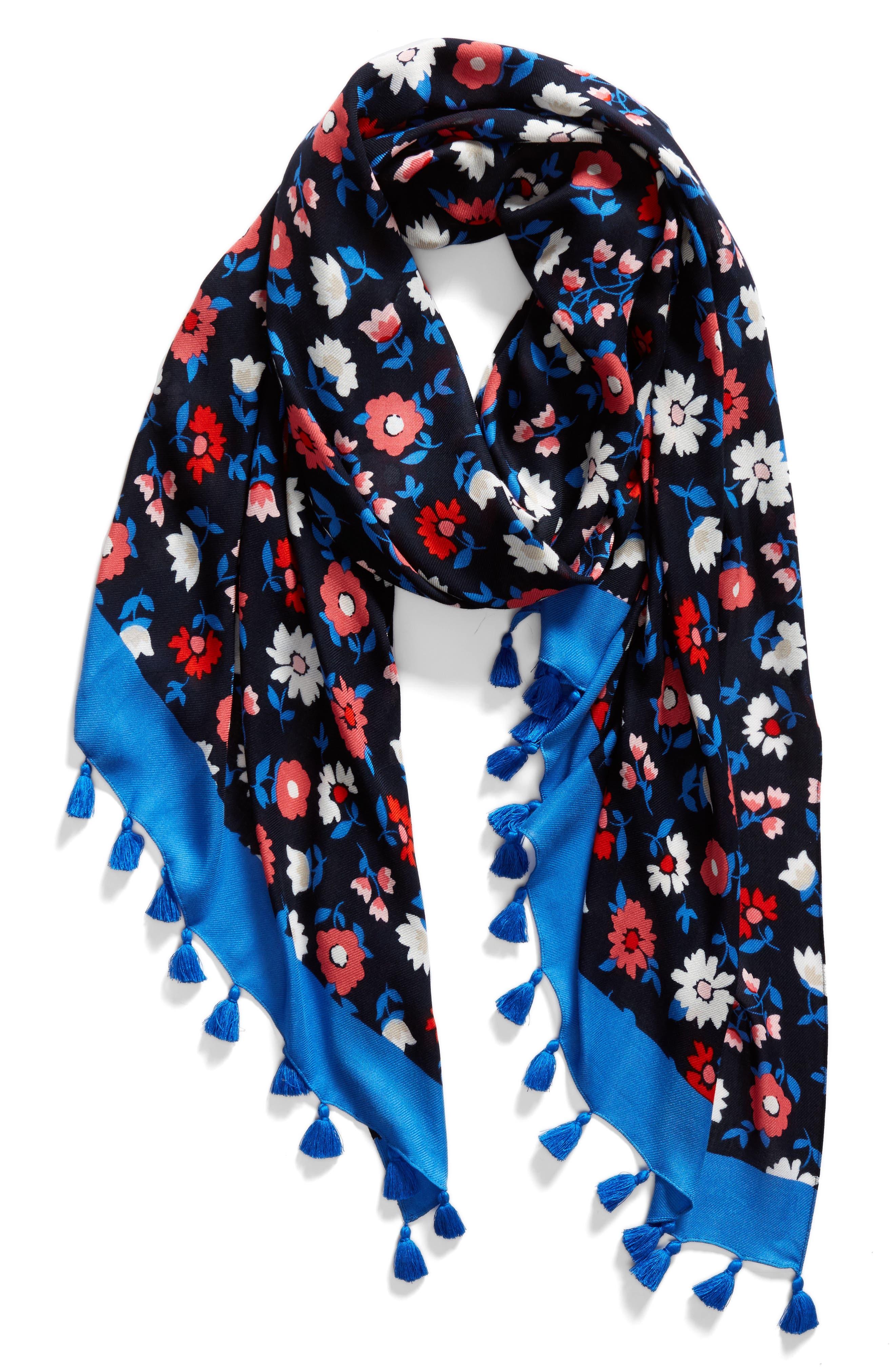 daisy scarf,                             Alternate thumbnail 2, color,                             RICH NAVY