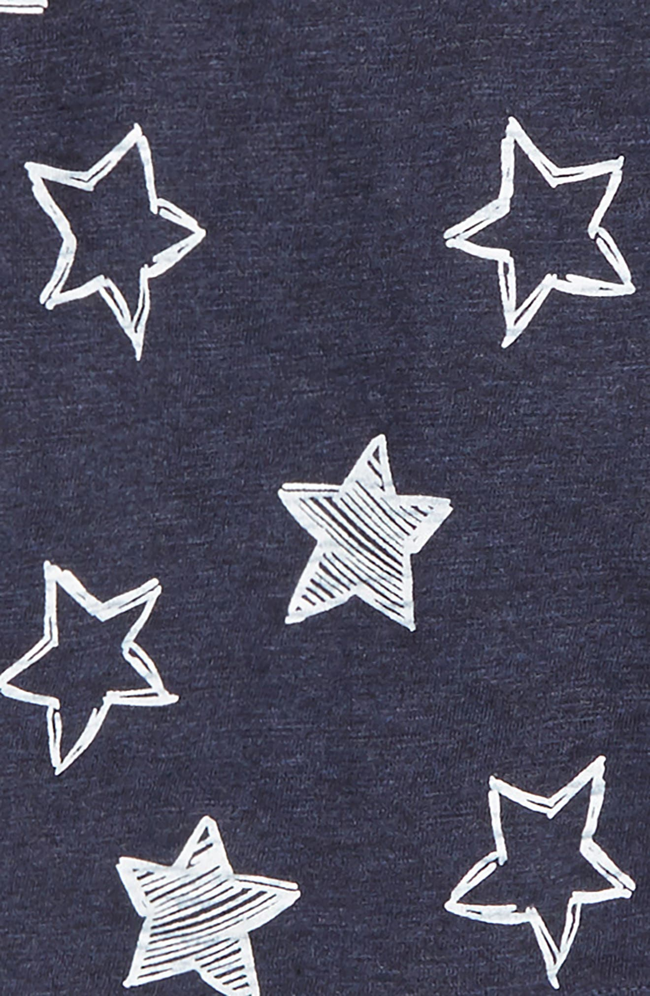 Stripe Henley, Star Print T-Shirt & Jogger Pants Set,                             Alternate thumbnail 2, color,                             HEATHER GRAY