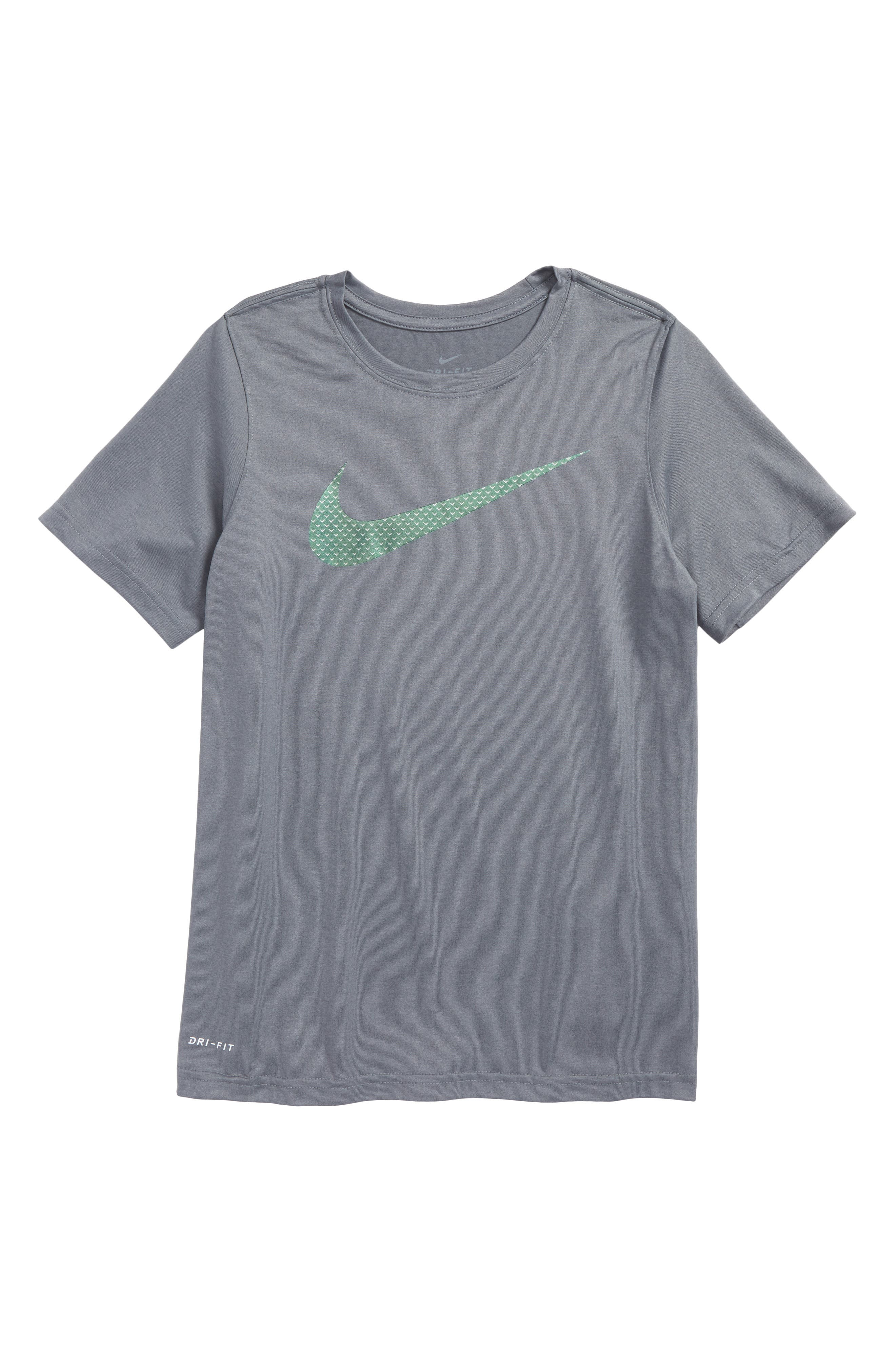 Dry Knurled Swoosh Graphic T-Shirt,                             Main thumbnail 1, color,                             065