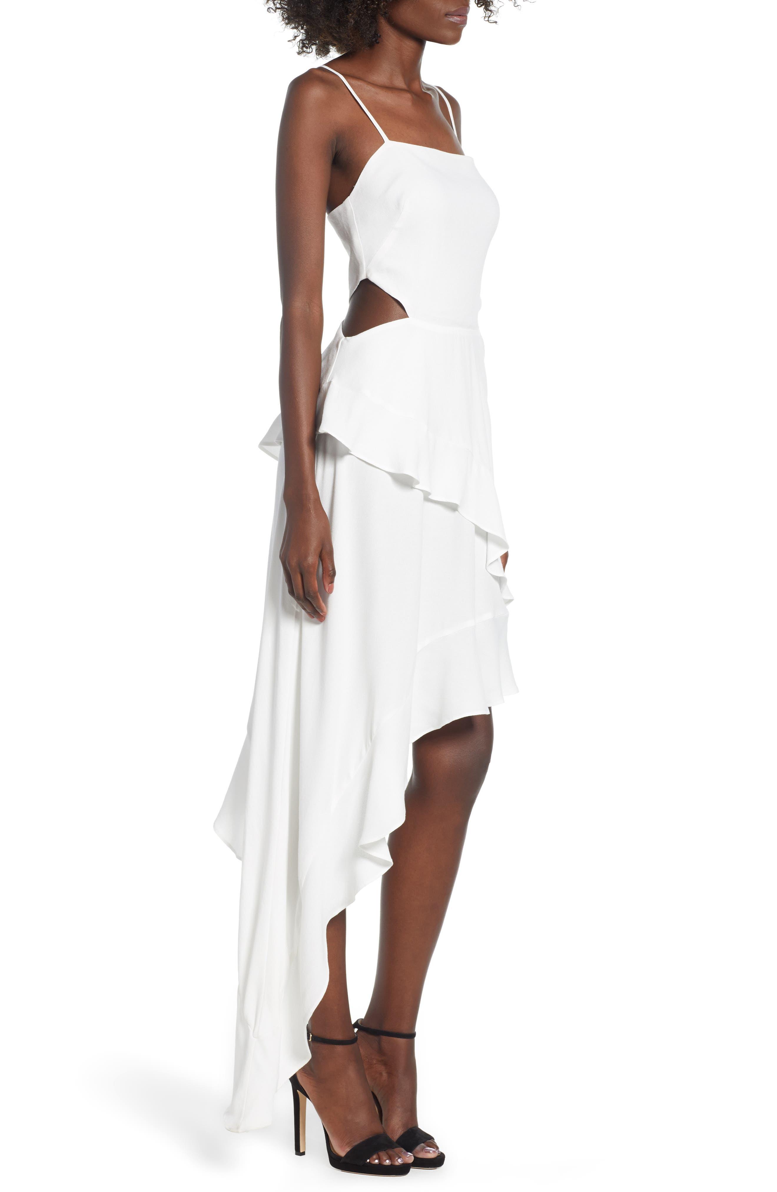 Cayli Asymmetrical Dress,                             Alternate thumbnail 3, color,                             100
