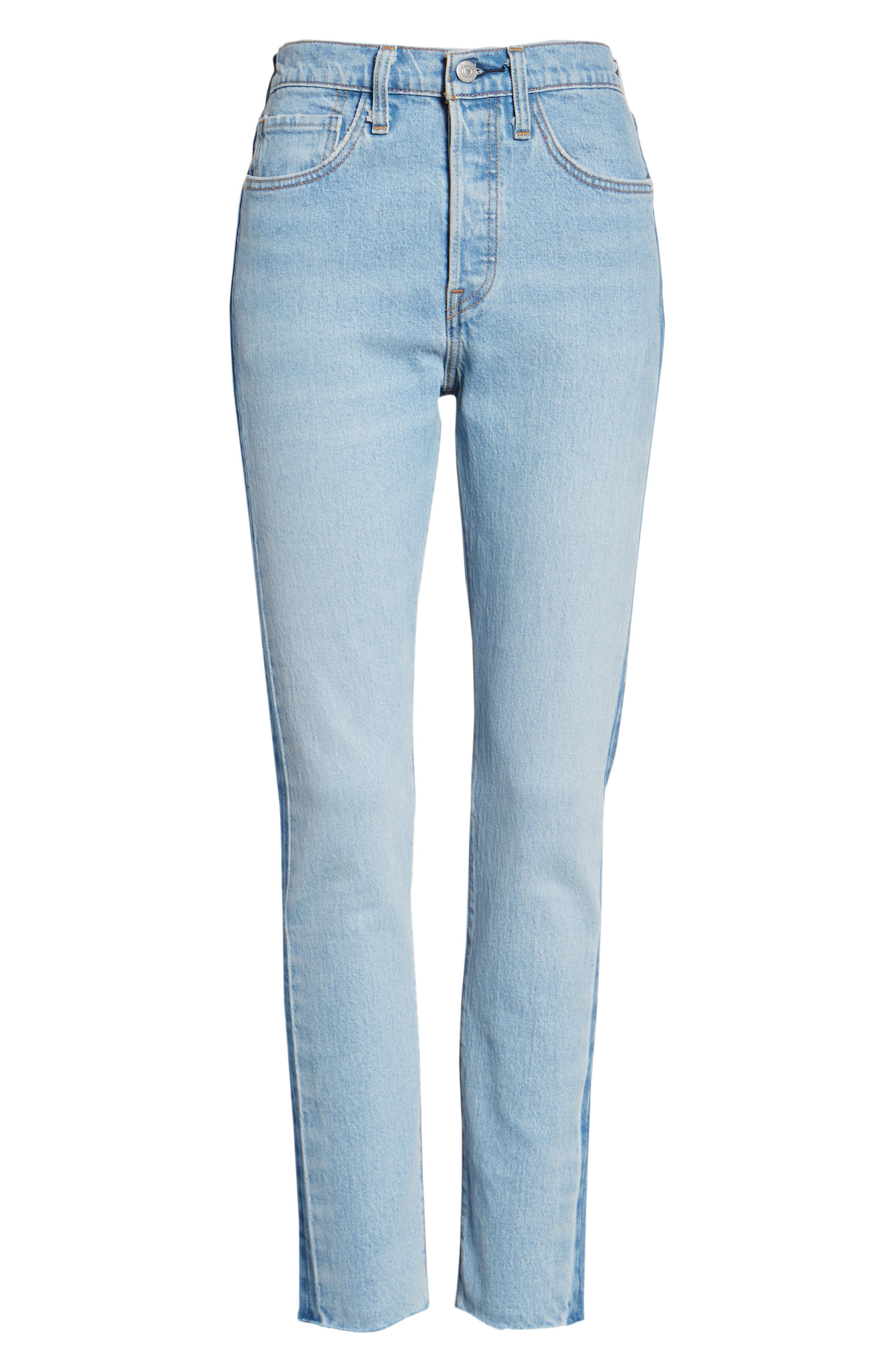 501<sup>®</sup> High Waist Skinny Jeans,                             Alternate thumbnail 7, color,                             SMARTY