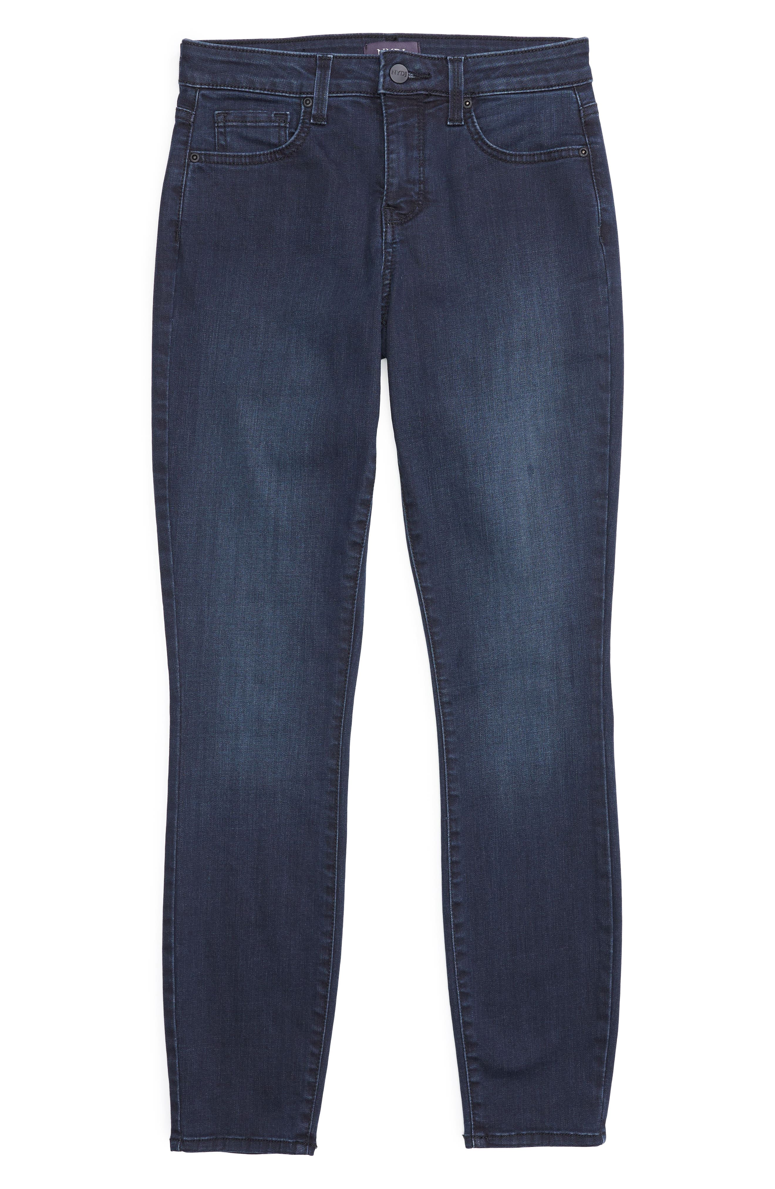 Ami Stretch Ankle Skinny Jeans,                             Alternate thumbnail 4, color,                             FALLEN