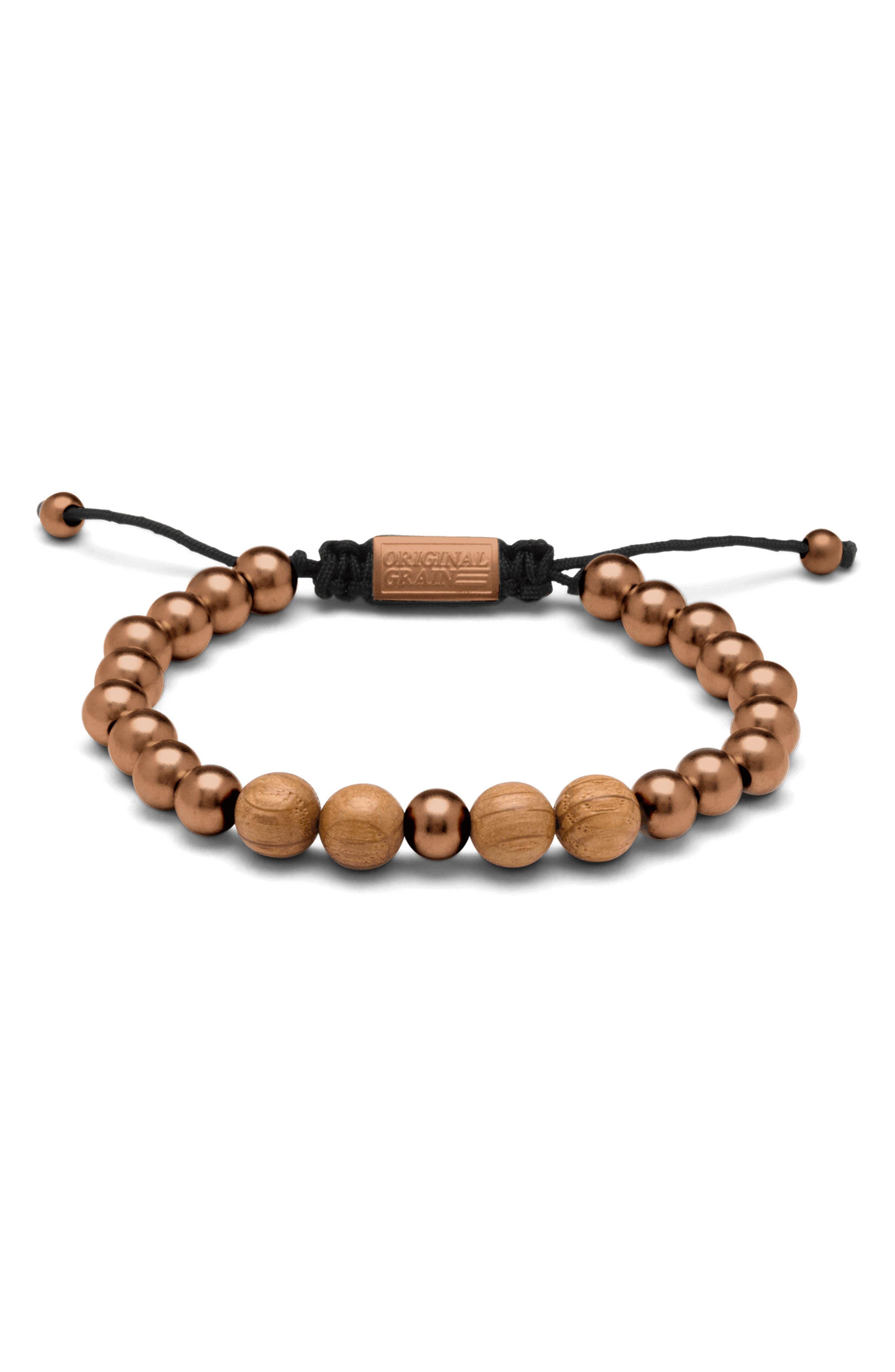 Bead Bracelet, Main, color, WHISKEY ESPRESSO