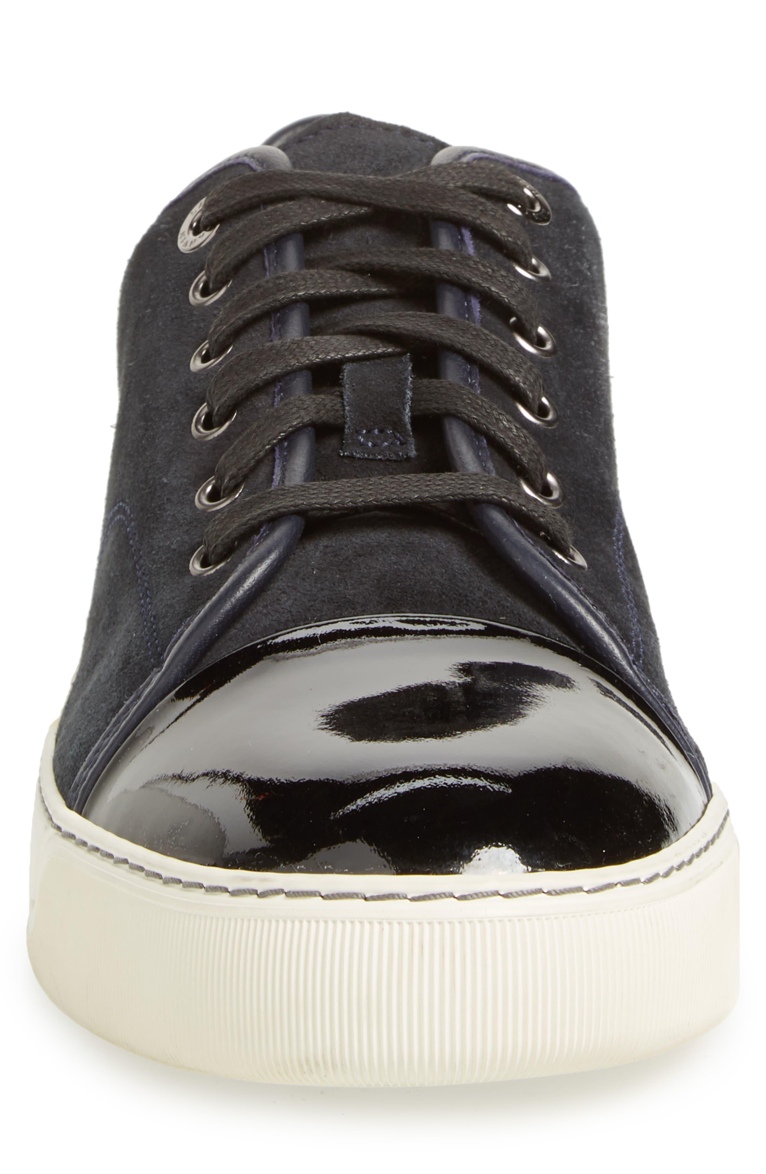 Low Top Suede Sneaker,                             Alternate thumbnail 4, color,                             024