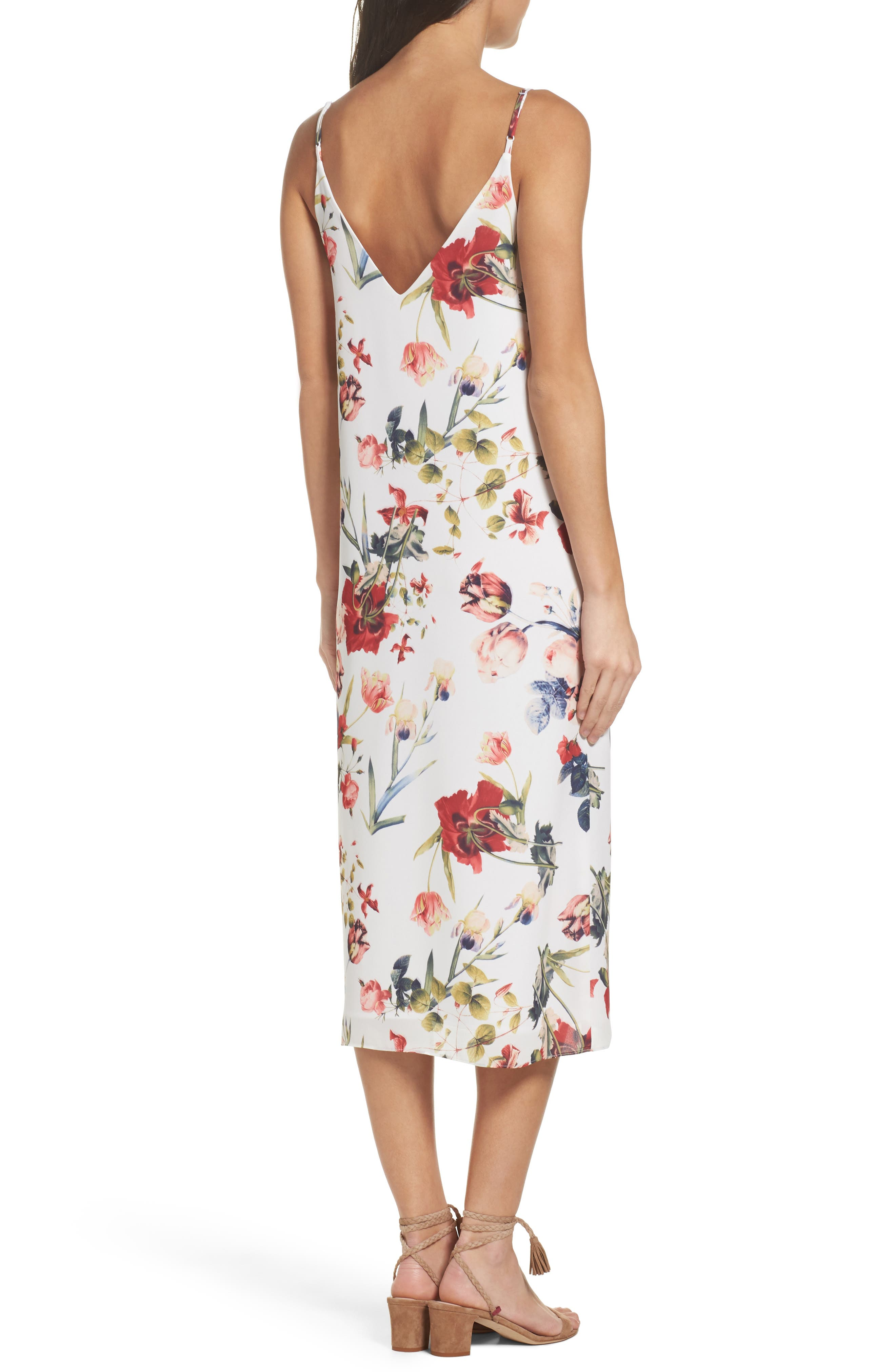 Dobby Midi Dress,                             Alternate thumbnail 2, color,                             111