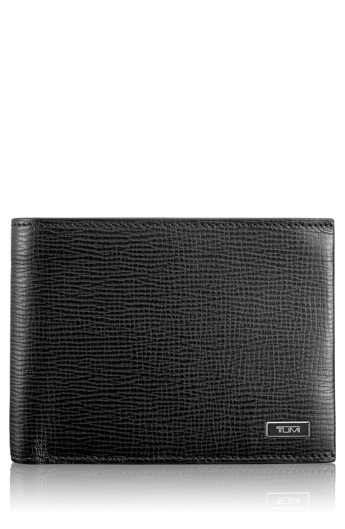 Monaco Global Double Billfold Leather Wallet,                             Main thumbnail 1, color,                             001