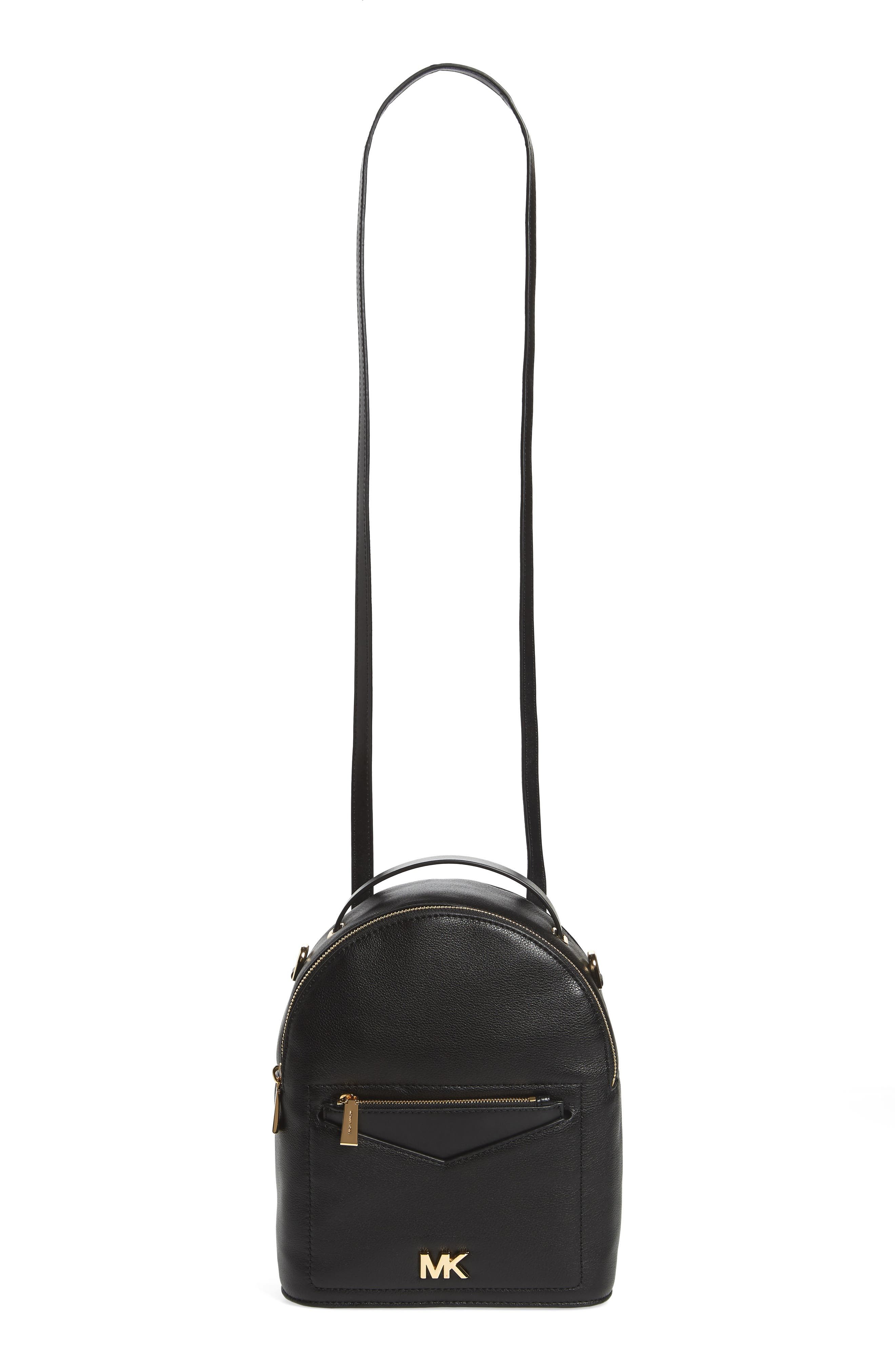 Small Jessa Leather Convertible Backpack,                             Alternate thumbnail 3, color,