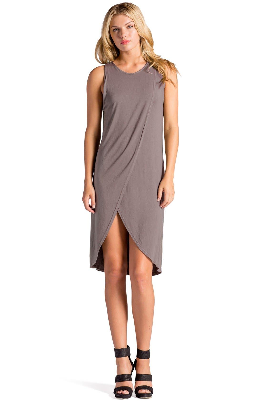 Elba Asymmetrical Hem Sleeveless Jersey Dress,                             Alternate thumbnail 8, color,