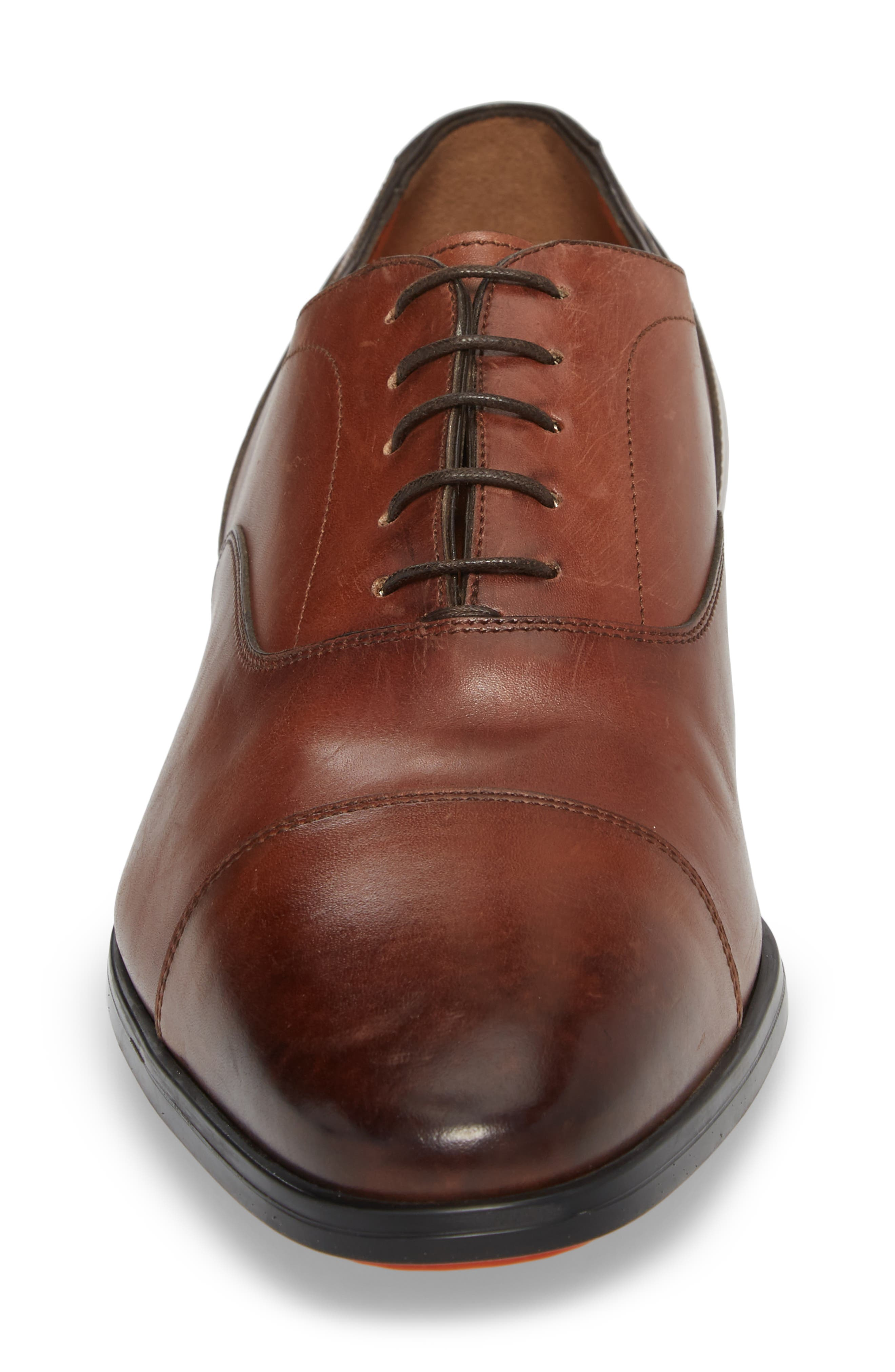 Eamon Cap Toe Oxford,                             Alternate thumbnail 4, color,                             BROWN