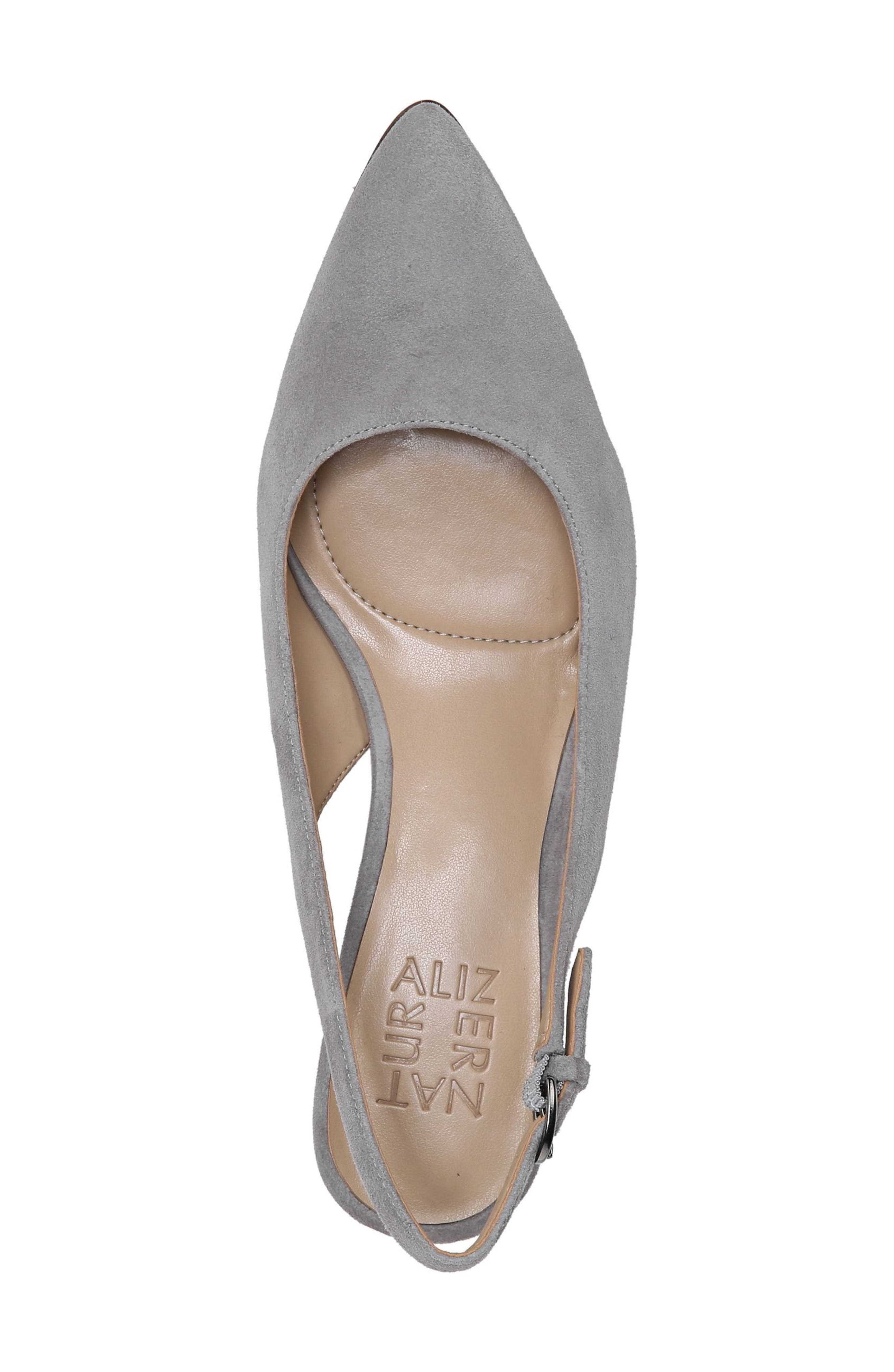 Slingback Pump,                             Alternate thumbnail 5, color,                             GREY SUEDE