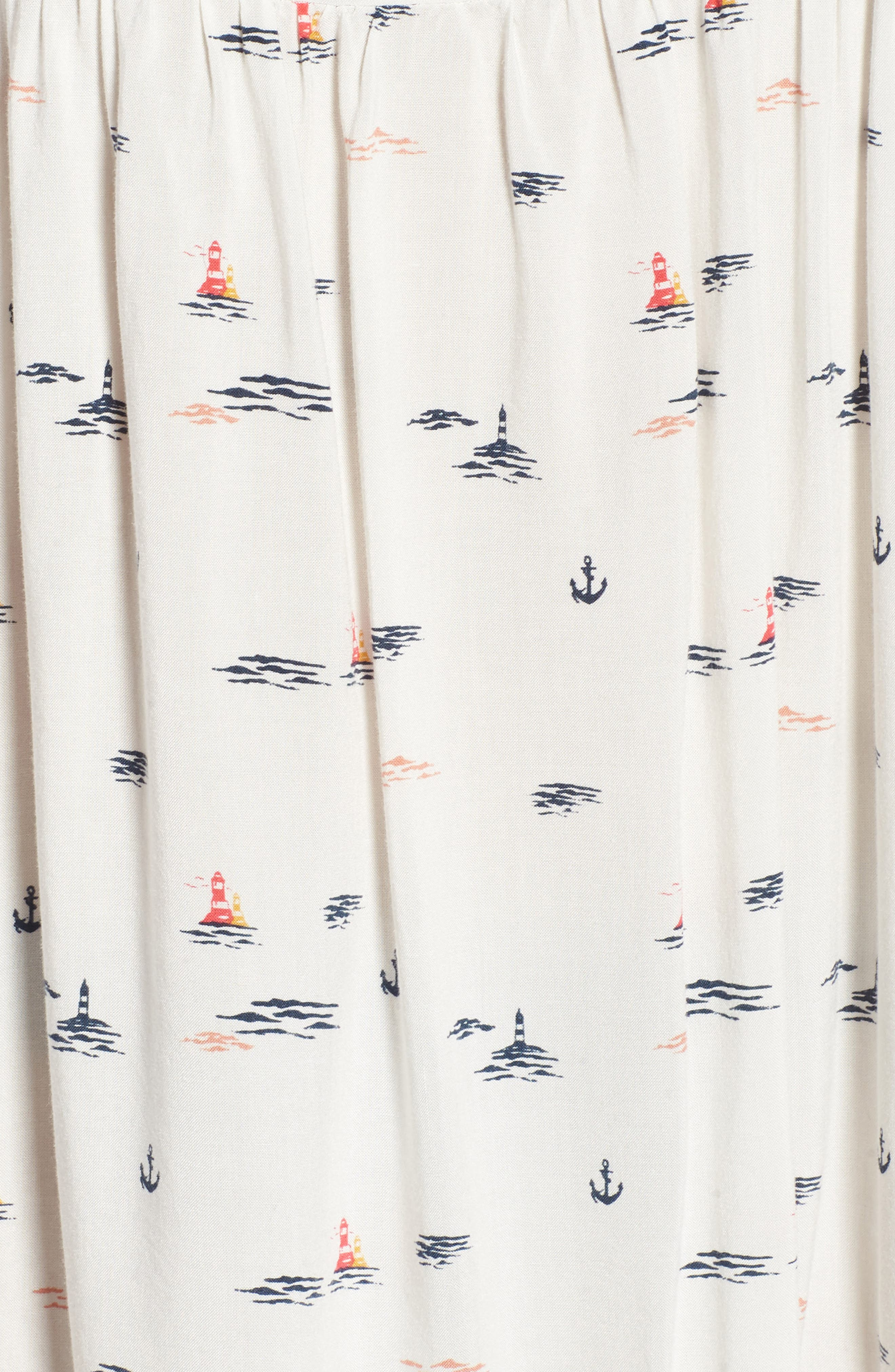 Tropical Sundance Print Babydoll Dress,                             Alternate thumbnail 14, color,