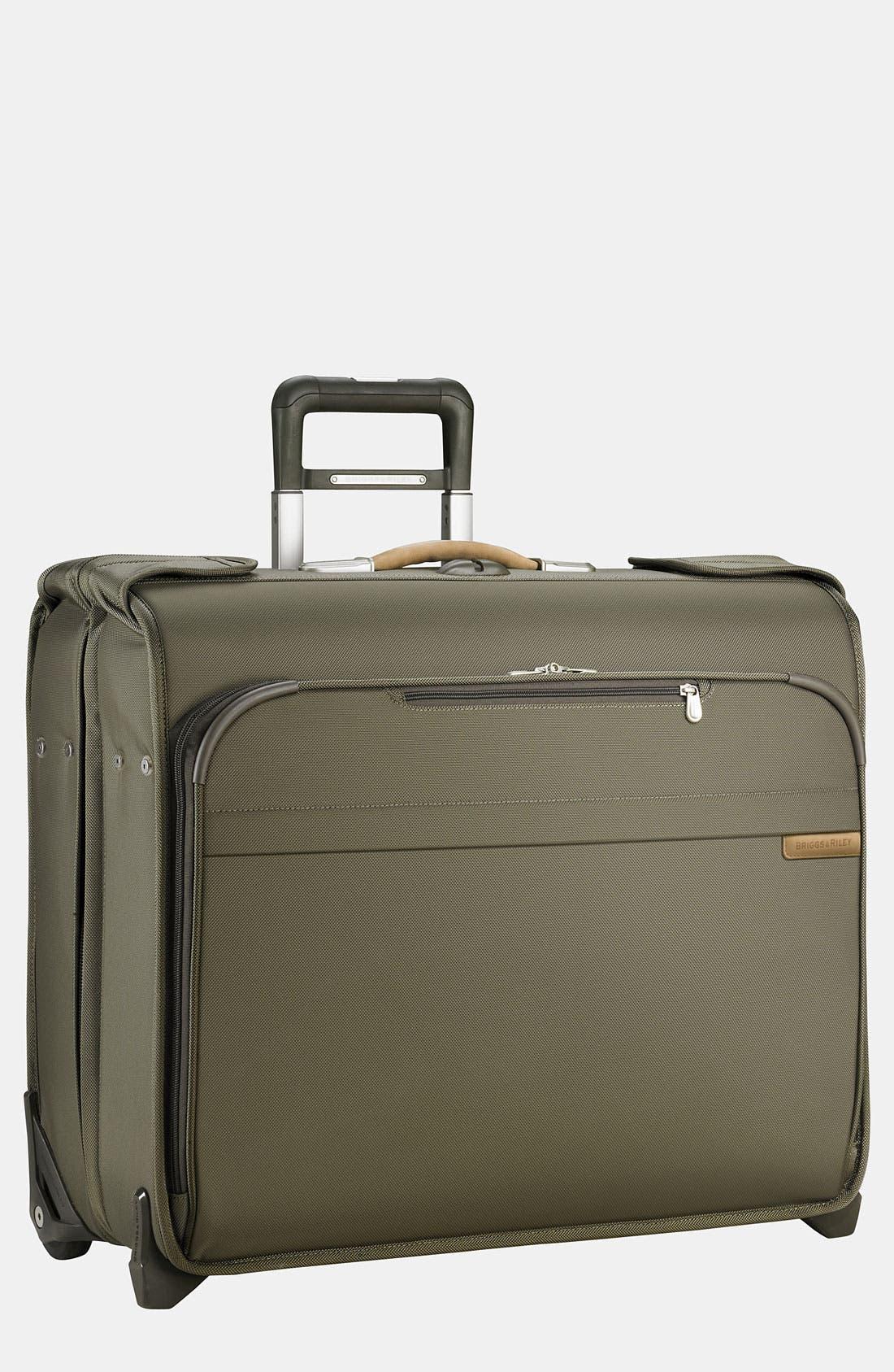 'Baseline - Deluxe' Rolling Garment Bag,                         Main,                         color, OLIVE