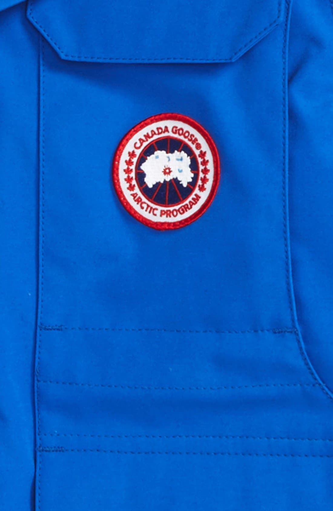 'PBI Expedition' Waterproof Down Parka with Genuine Coyote Fur Trim,                             Alternate thumbnail 2, color,                             ROYAL BLUE