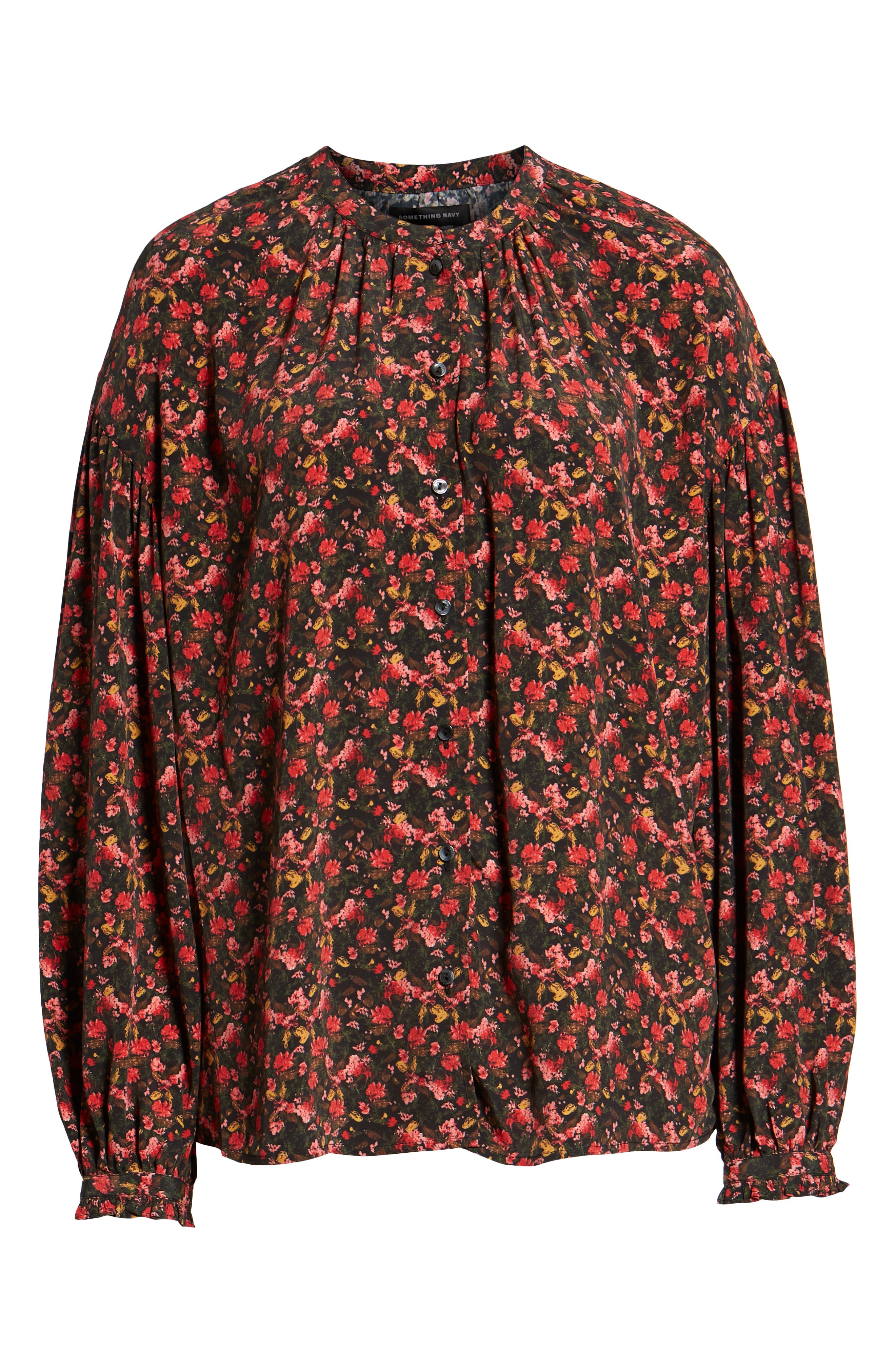 Easy Volume Top,                             Alternate thumbnail 7, color,                             RED BLAZE PAINTERLY FLORAL