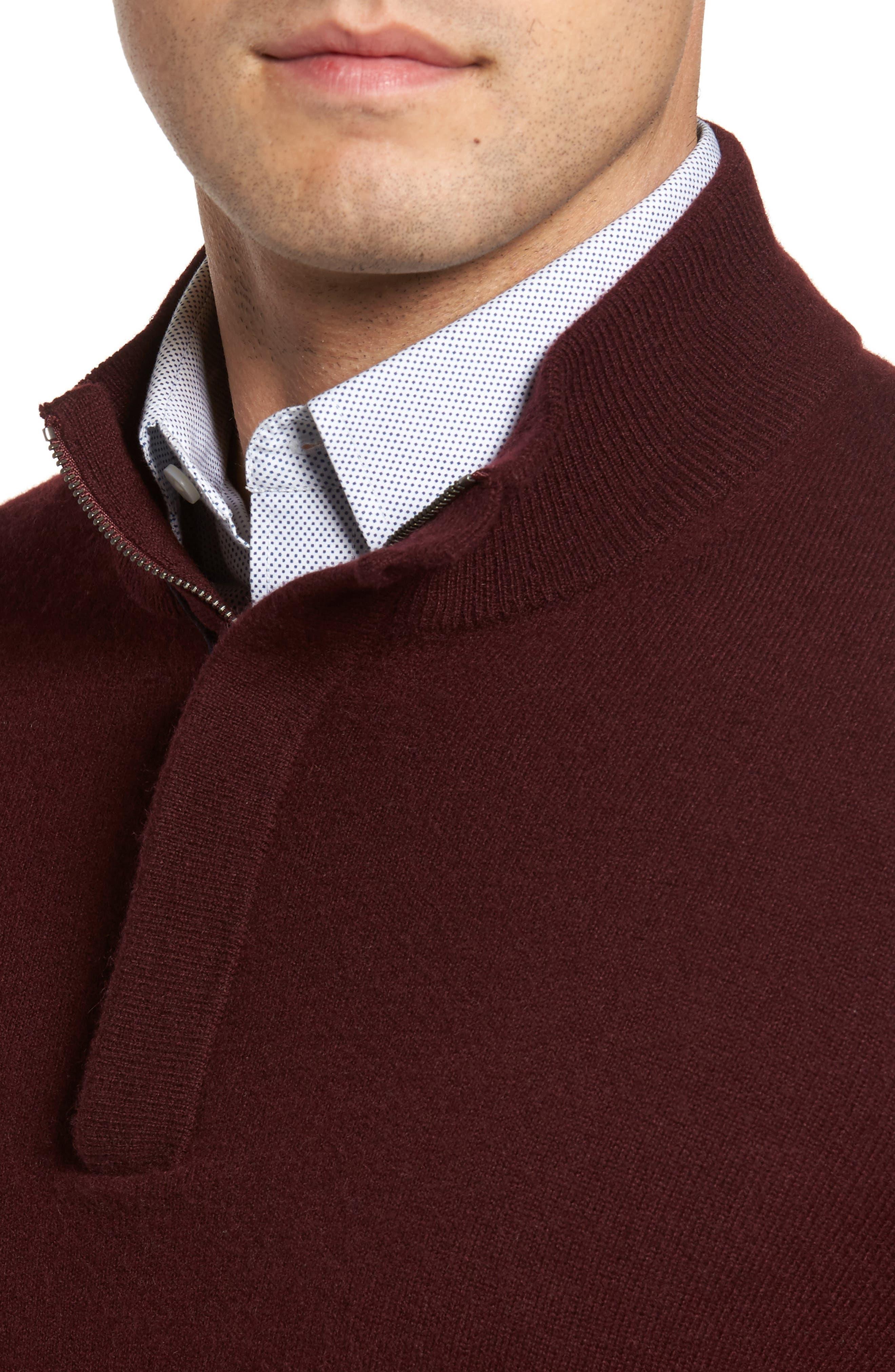 Cashmere Quarter Zip Sweater,                             Alternate thumbnail 24, color,