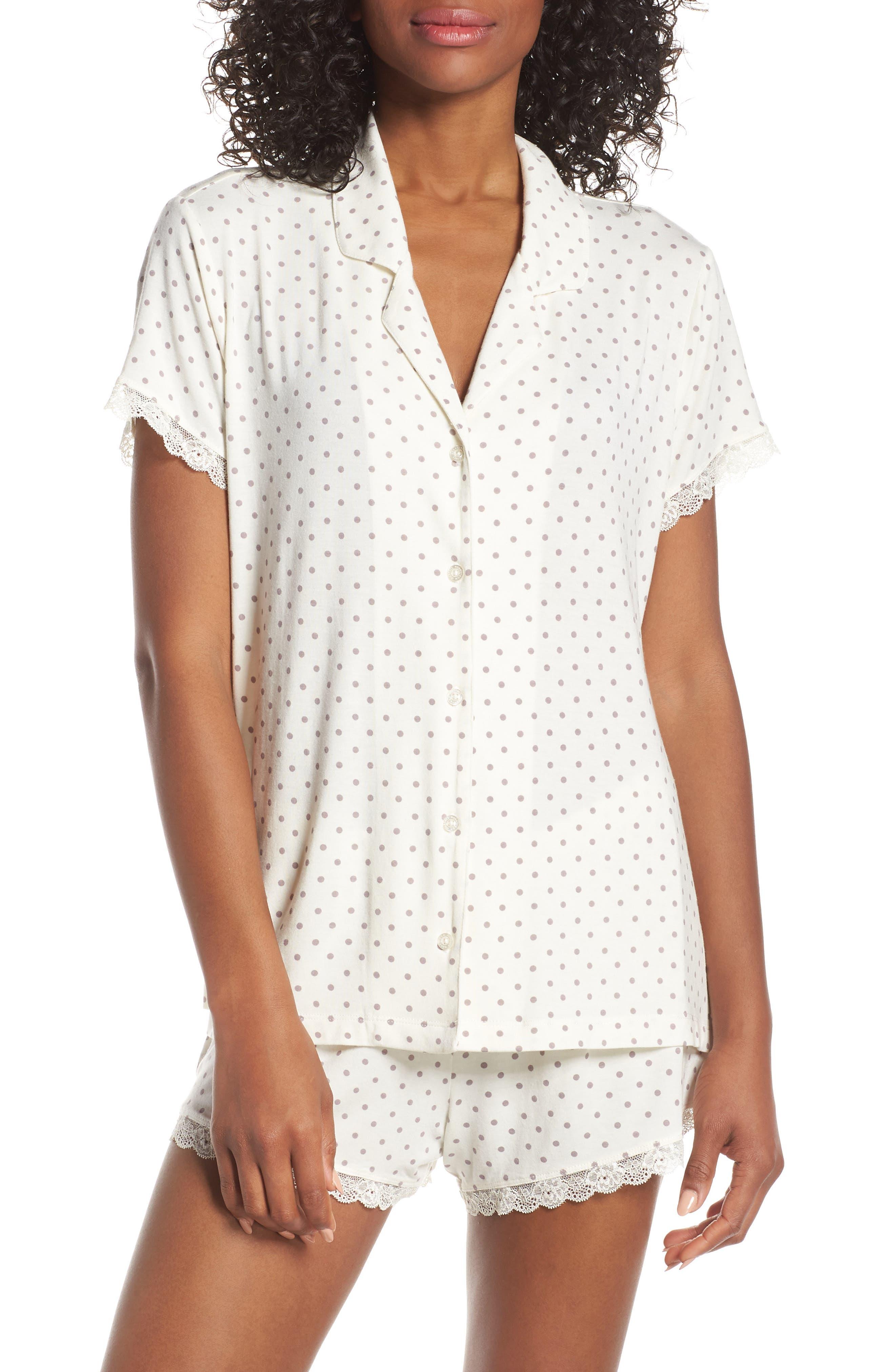Nordstrom Lingerie Moonlight Short Pajamas, Ivory