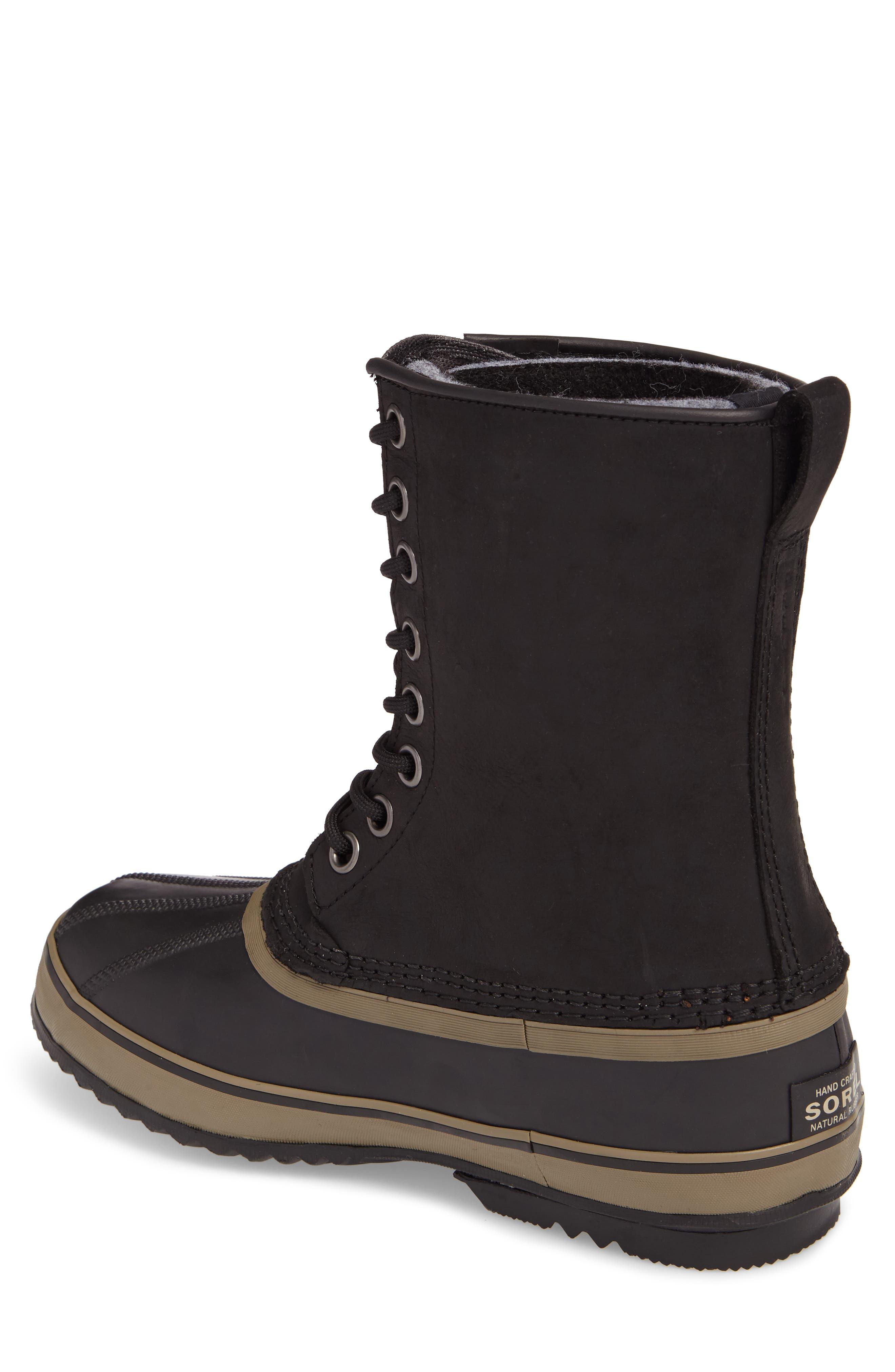 1964 Premium T Snow Waterproof Boot,                             Alternate thumbnail 2, color,                             BLACK LEATHER