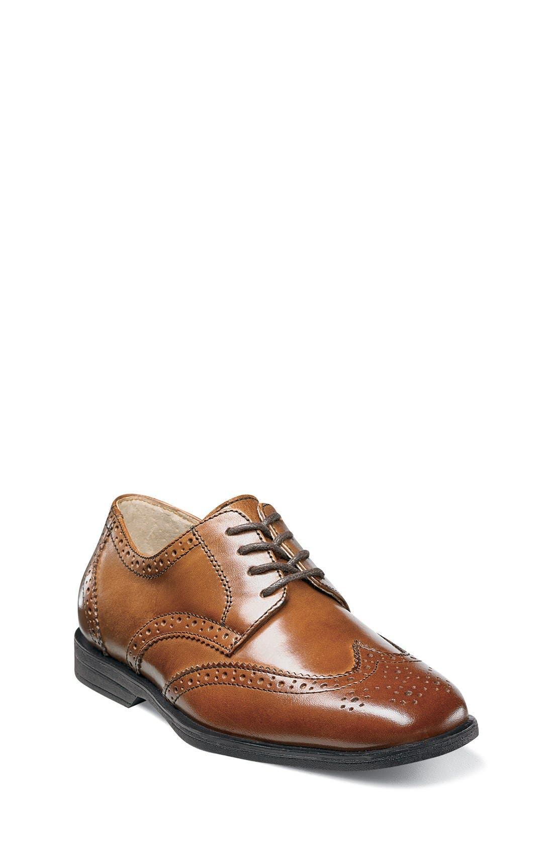 'Reveal' Wingtip Oxford,                             Main thumbnail 1, color,                             COGNAC LEATHER