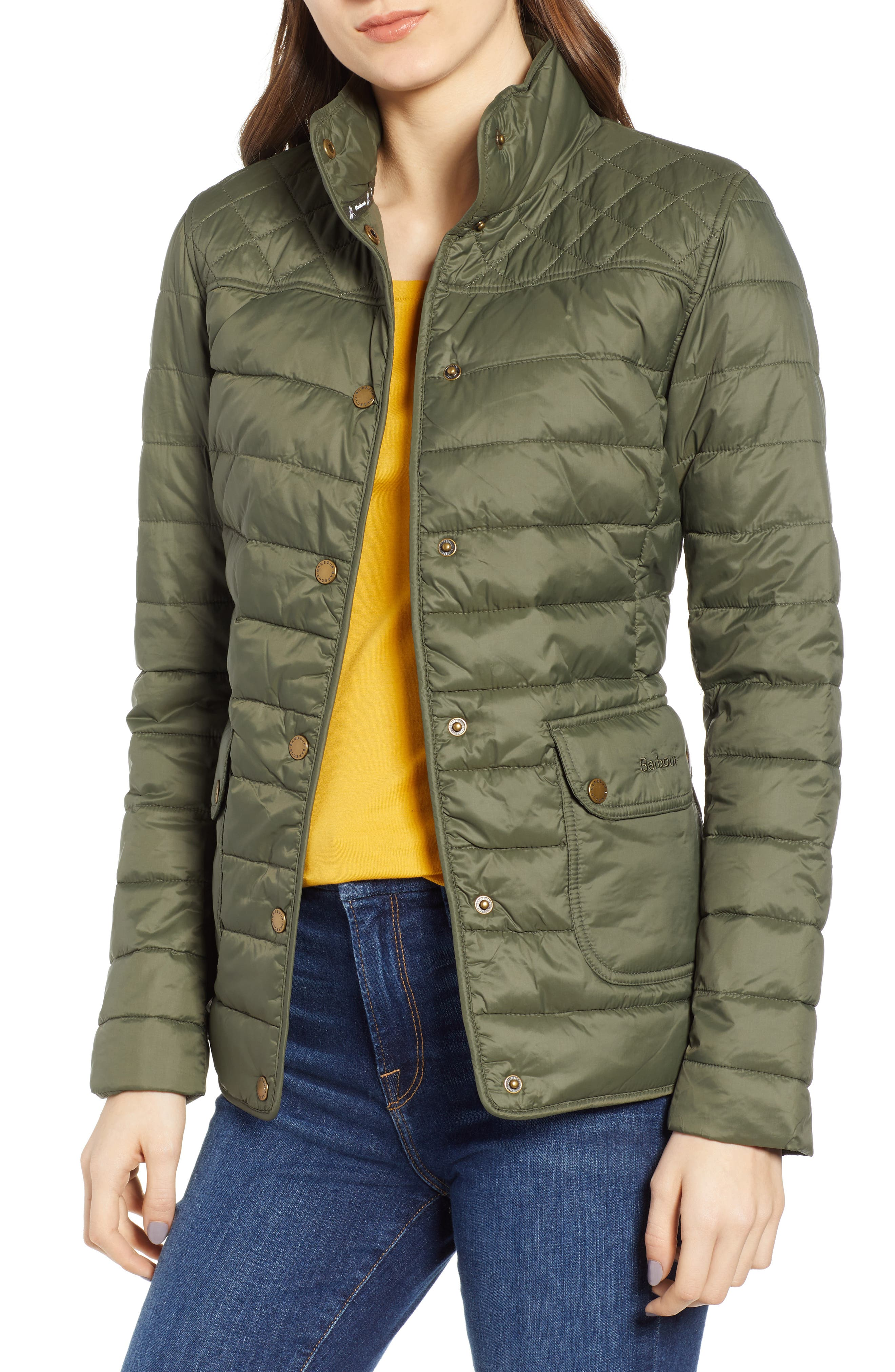 Barbour Coledale Quilted Jacket, US / 8 UK - Green