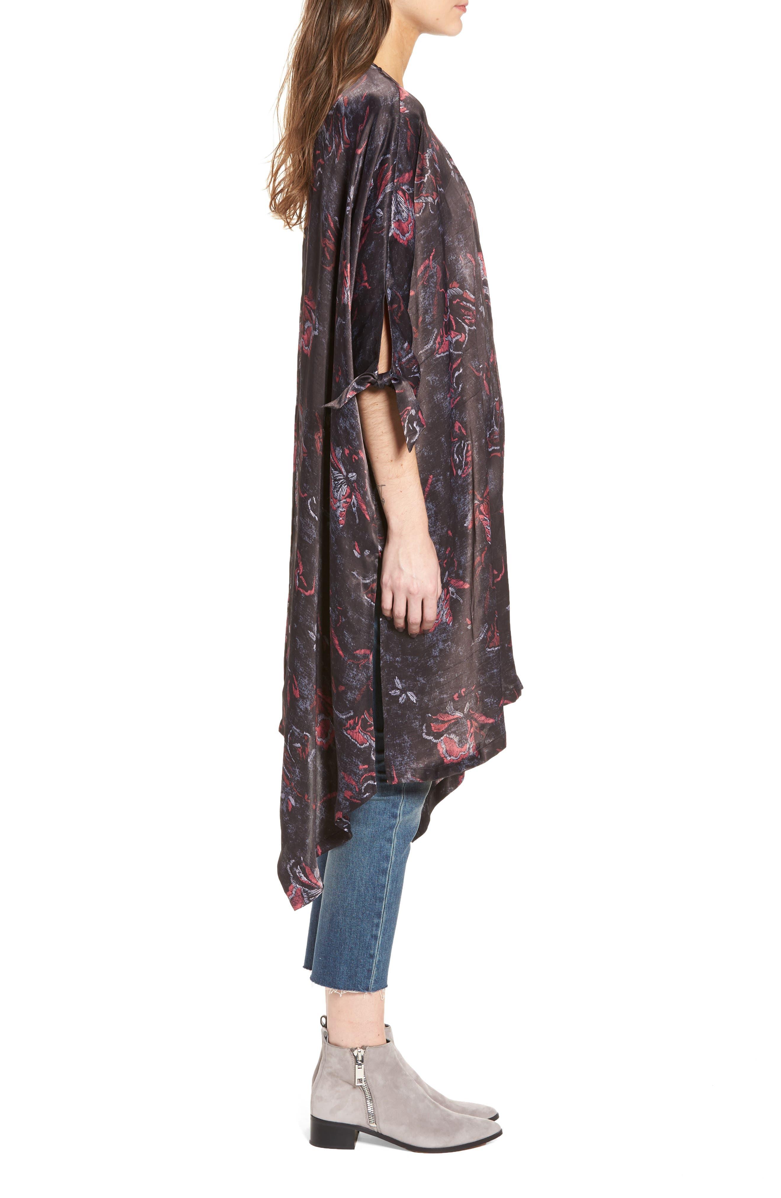 High/Low Kimono,                             Alternate thumbnail 3, color,                             001