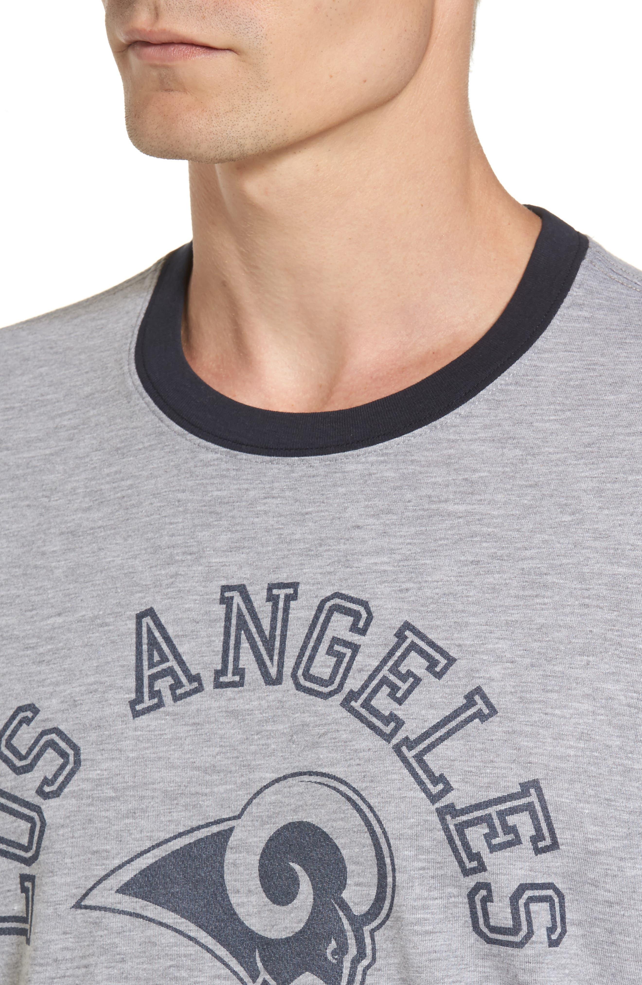 Los Angeles Rams Ringer T-Shirt,                             Alternate thumbnail 4, color,                             020
