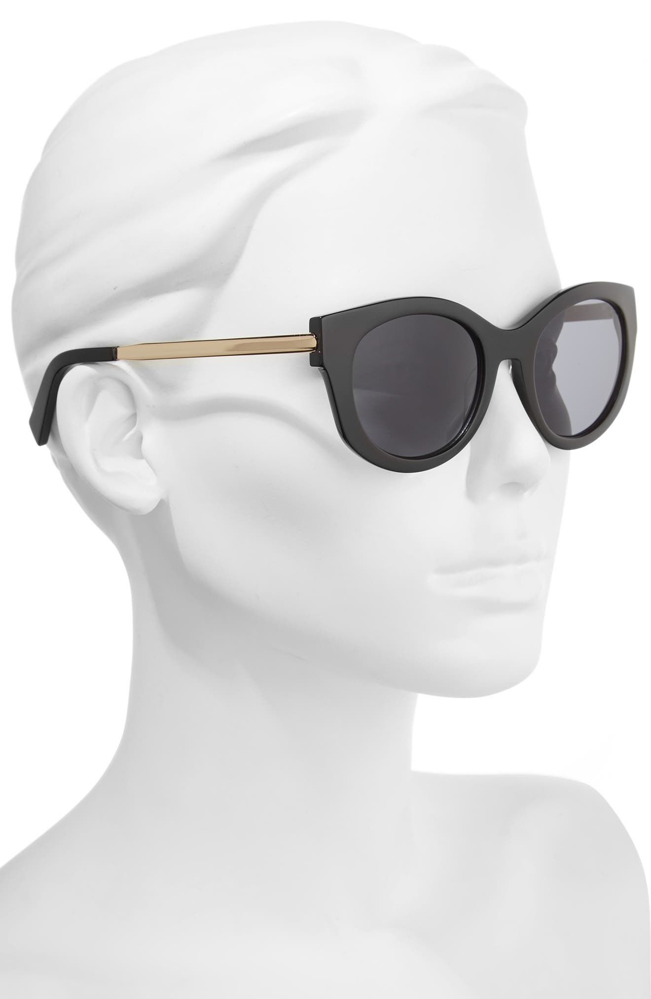 53mm Modified Cat Eye Sunglasses,                             Alternate thumbnail 2, color,                             001