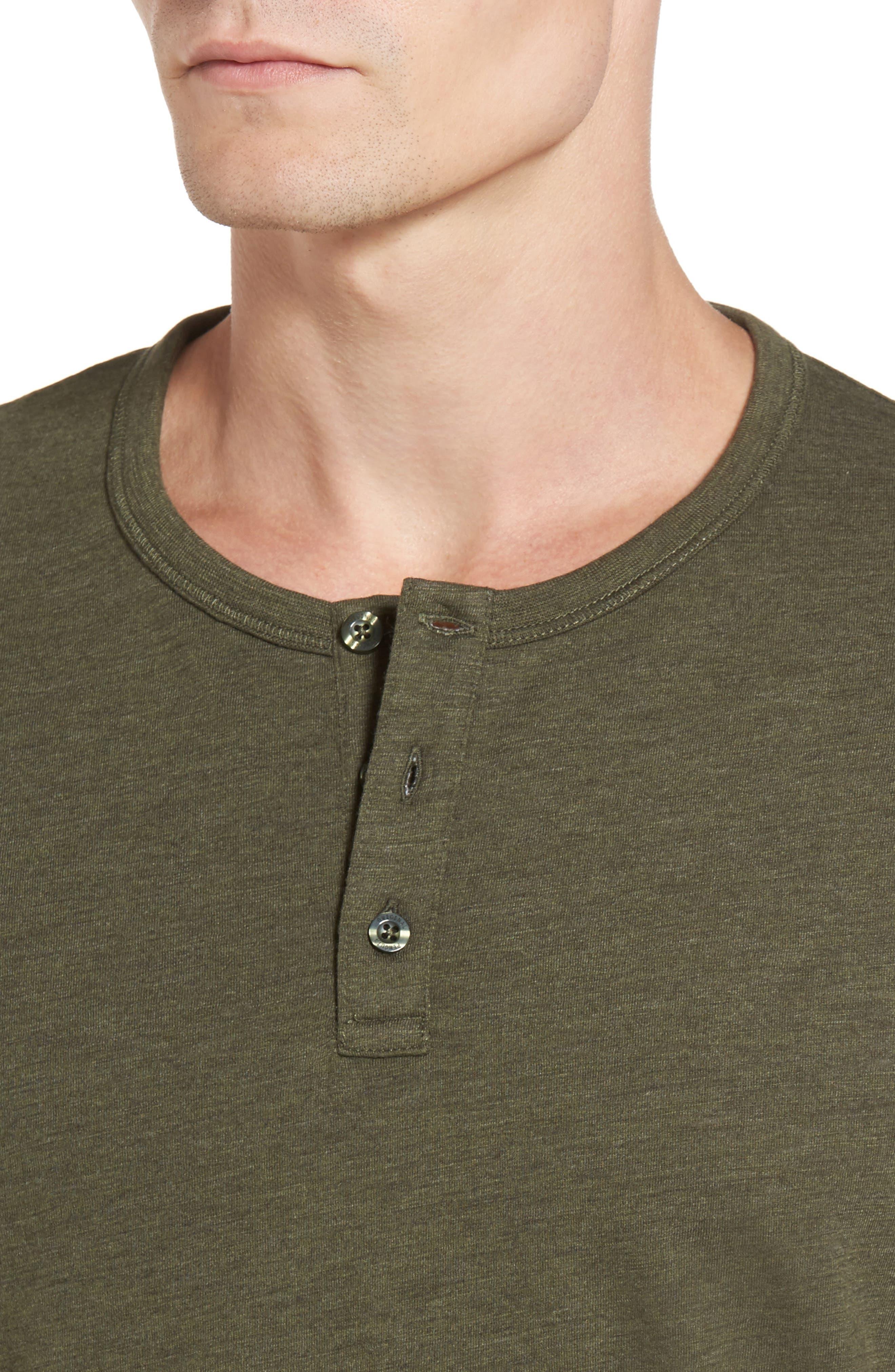 Bing Short Sleeve Henley Shirt,                             Alternate thumbnail 4, color,                             306