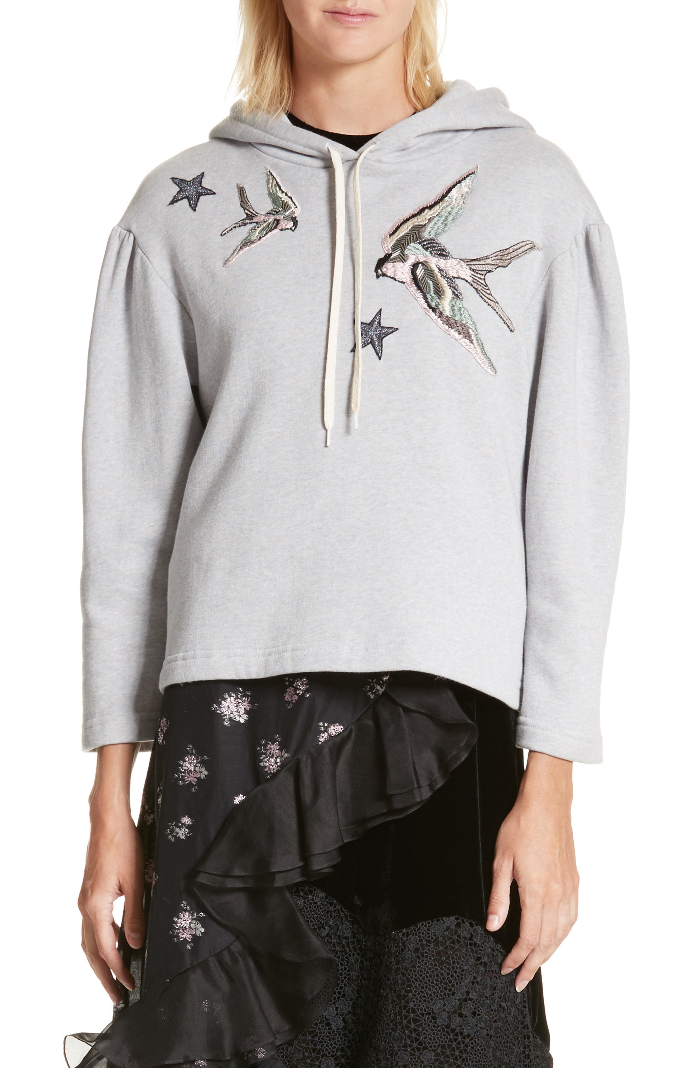 Embroidered Hoodie,                             Main thumbnail 1, color,                             692
