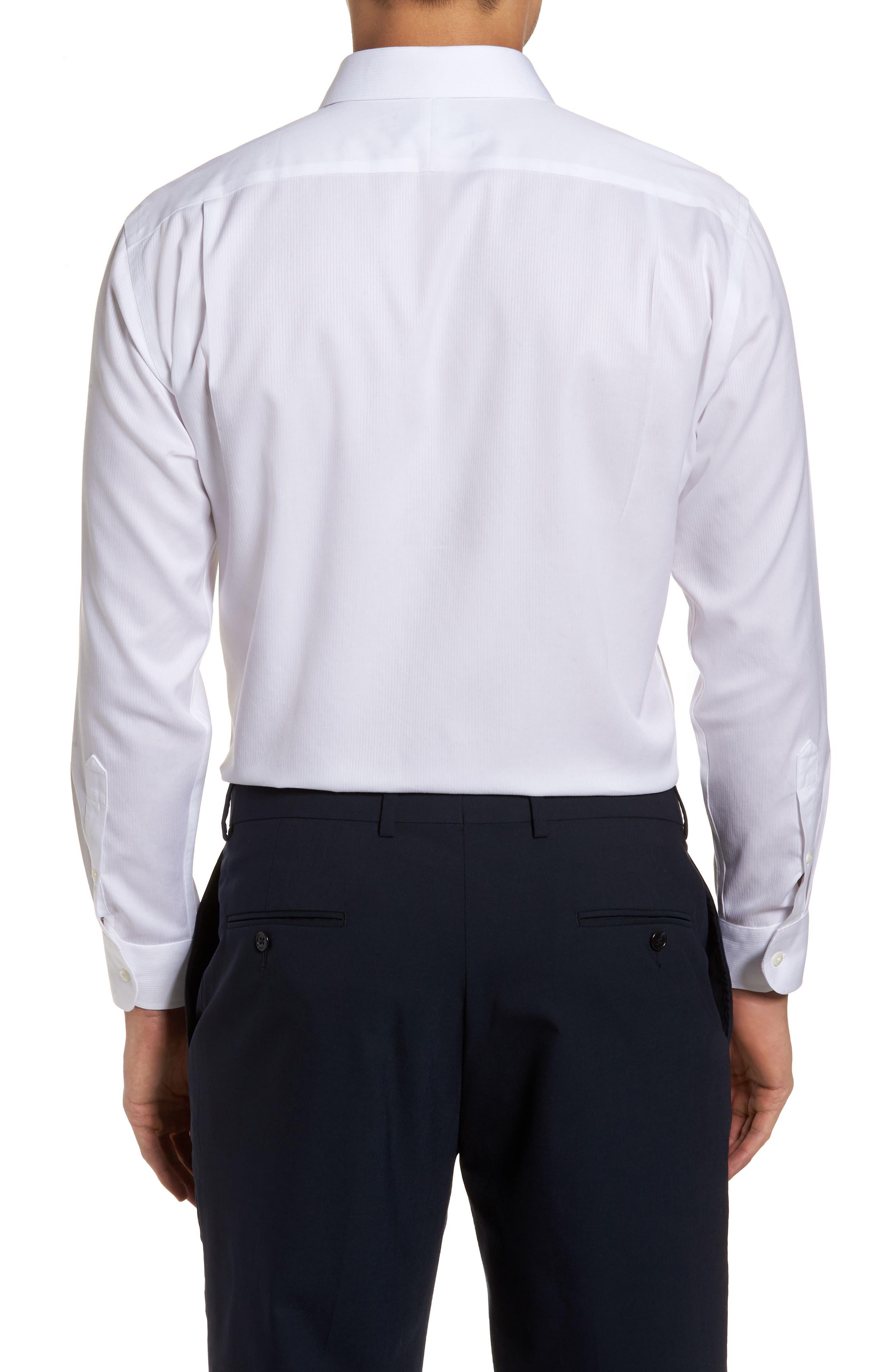 Smartcare<sup>™</sup> Trim Fit Dress Shirt,                             Alternate thumbnail 3, color,                             WHITE