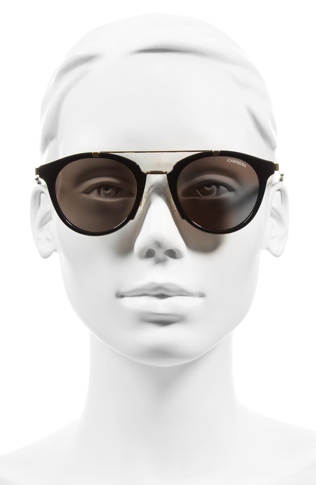 Carrera 126 49mm Sunglasses,                             Alternate thumbnail 3, color,                             001