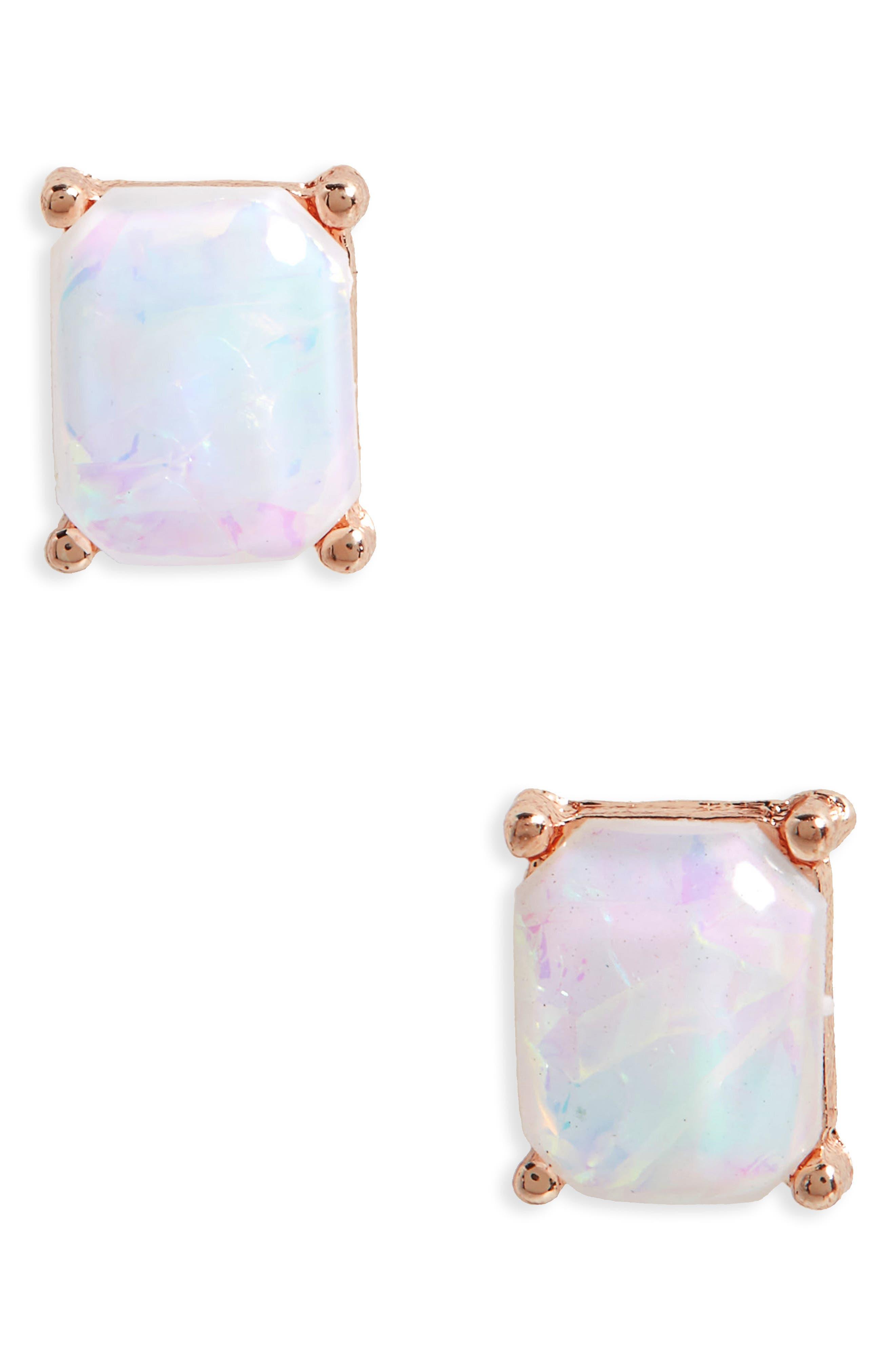 Faux Opal Stud Earrings,                             Main thumbnail 1, color,                             710