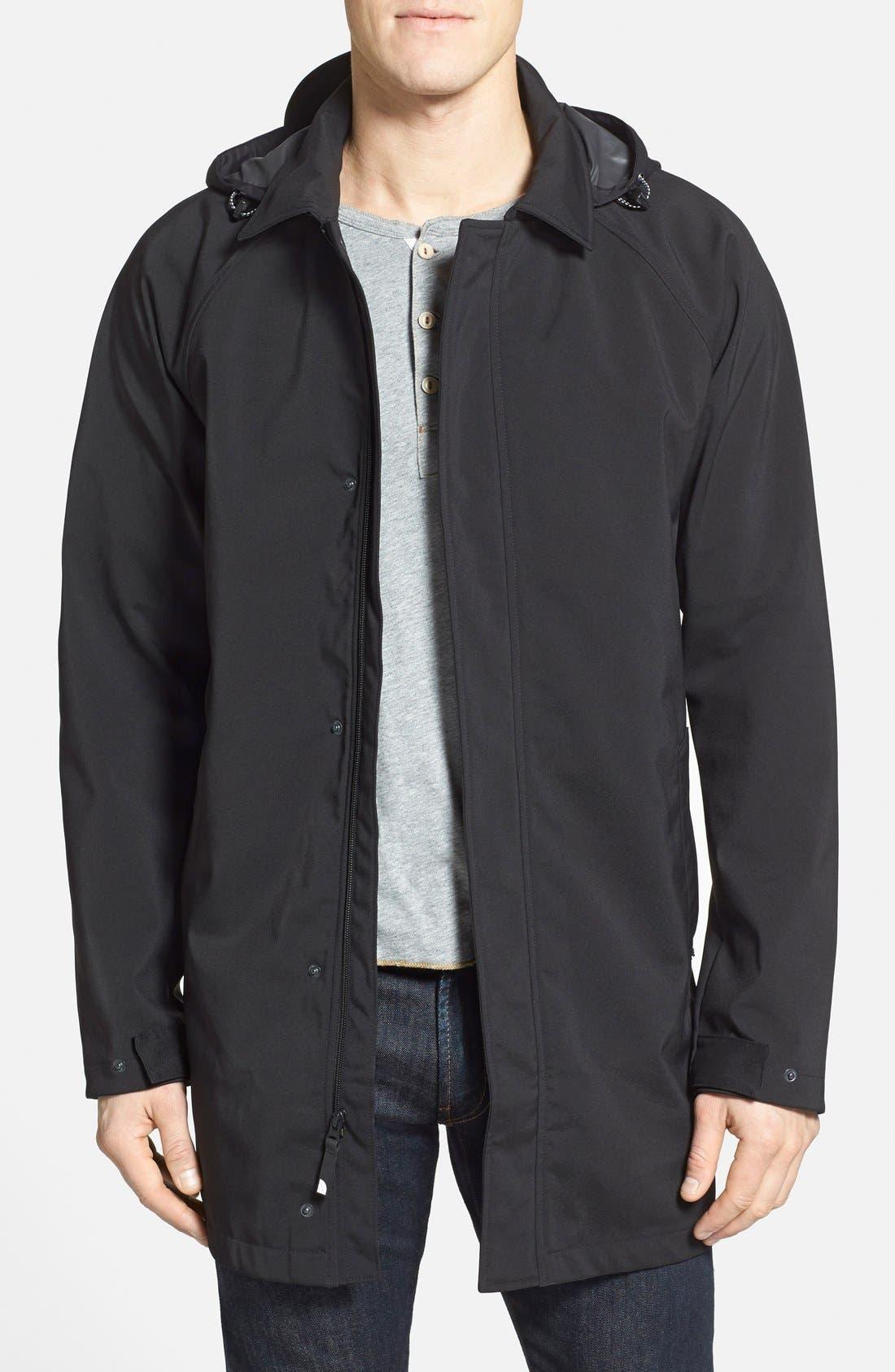 THE NORTH FACE 'Macarthur' Soft Shell Mac Coat, Main, color, 001