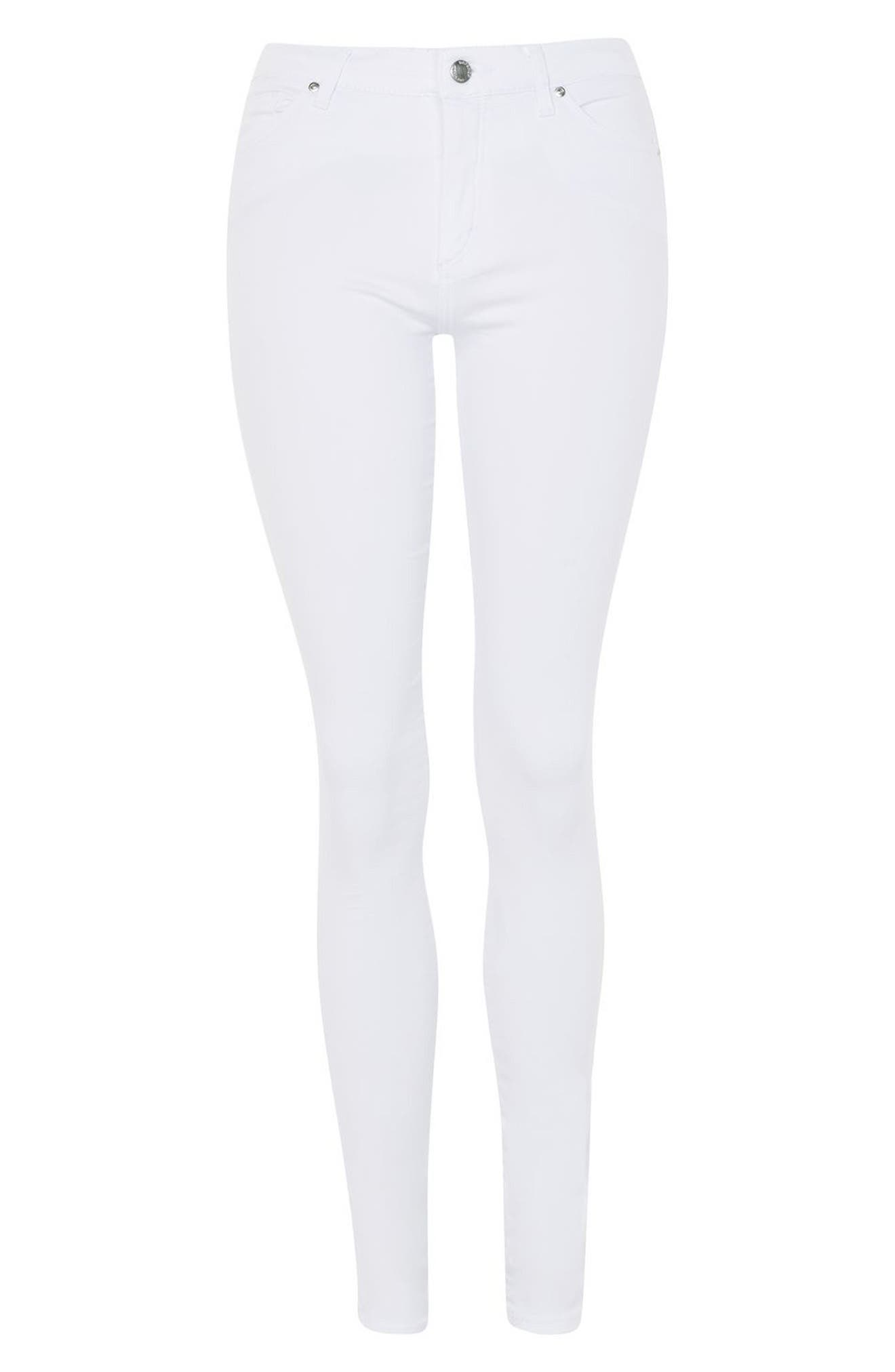 Leigh Skinny Jeans,                             Alternate thumbnail 4, color,                             100