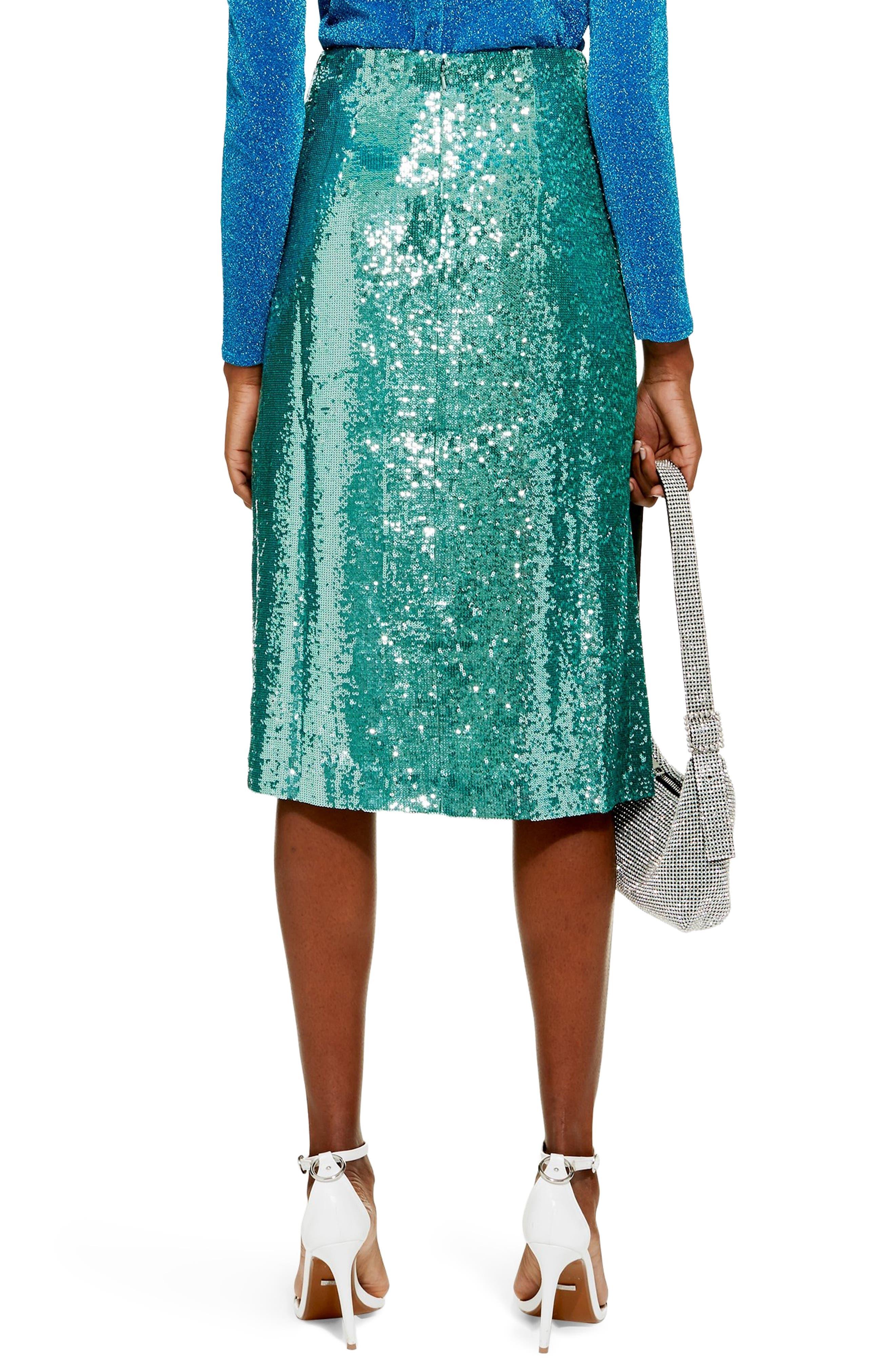 Sequin Skirt,                             Alternate thumbnail 2, color,                             MINT