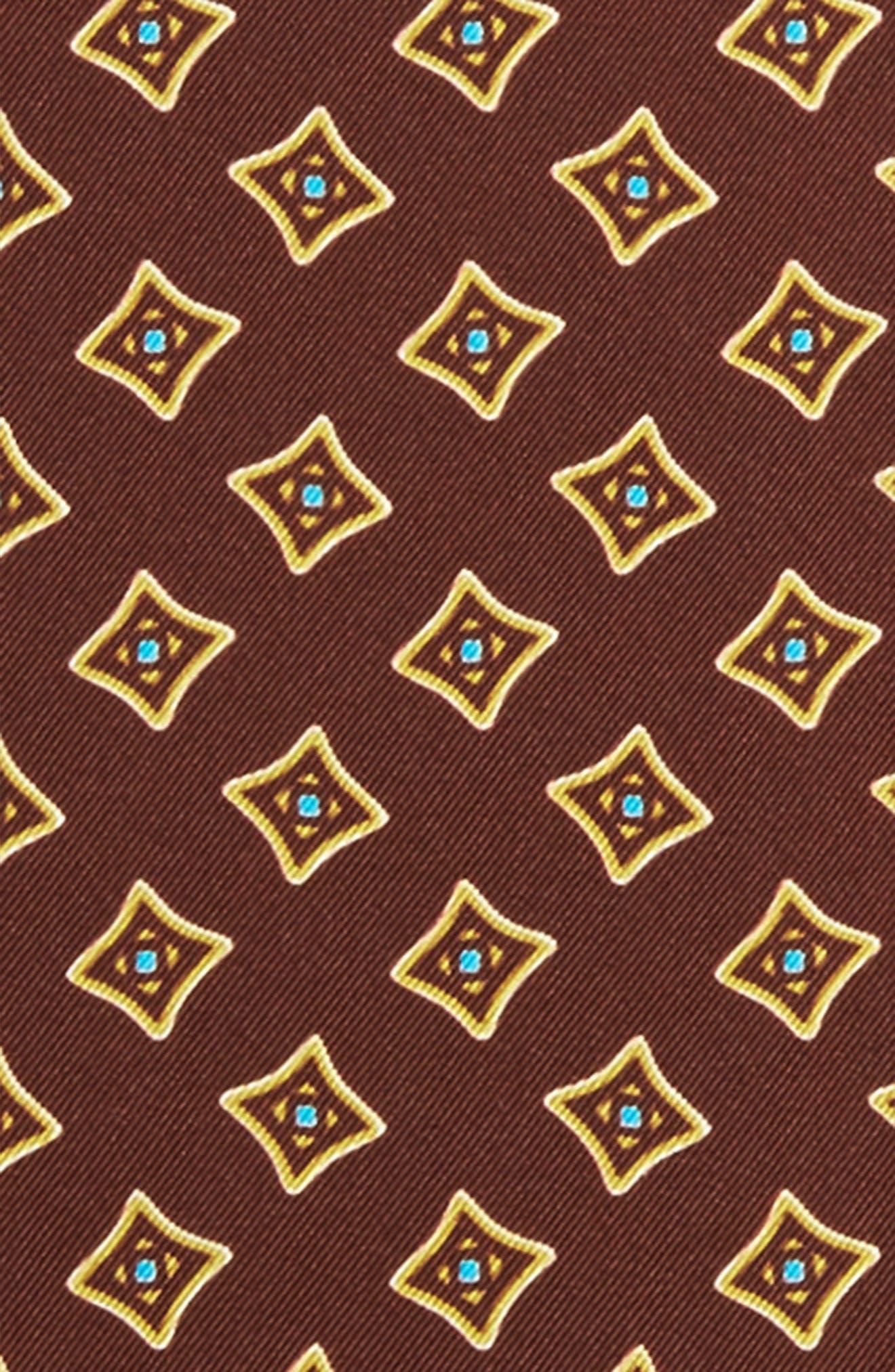 Medallion Silk Pocket Square,                             Alternate thumbnail 3, color,                             200