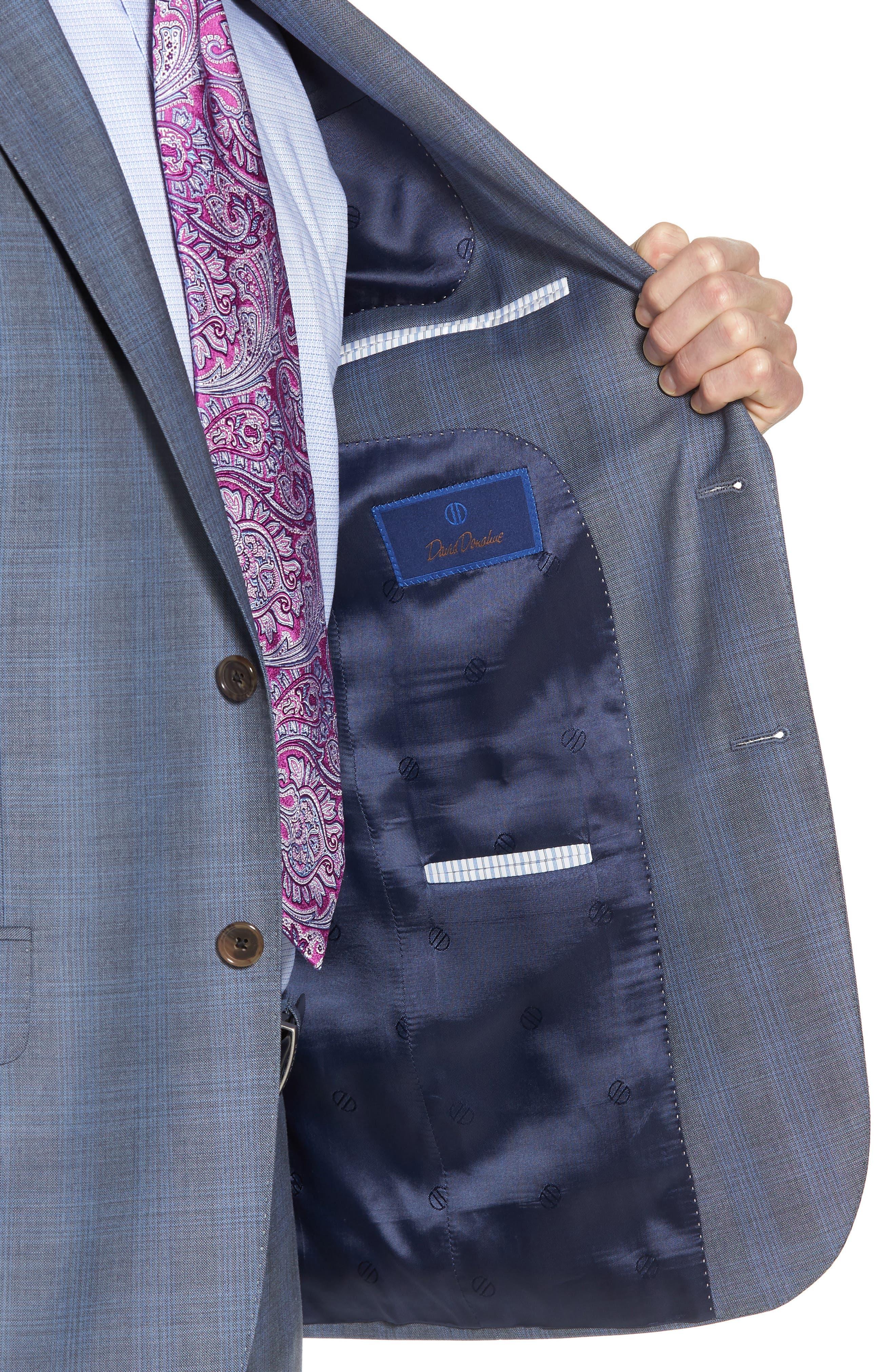 Ryan Classic Fit Plaid Wool Suit,                             Alternate thumbnail 4, color,                             020