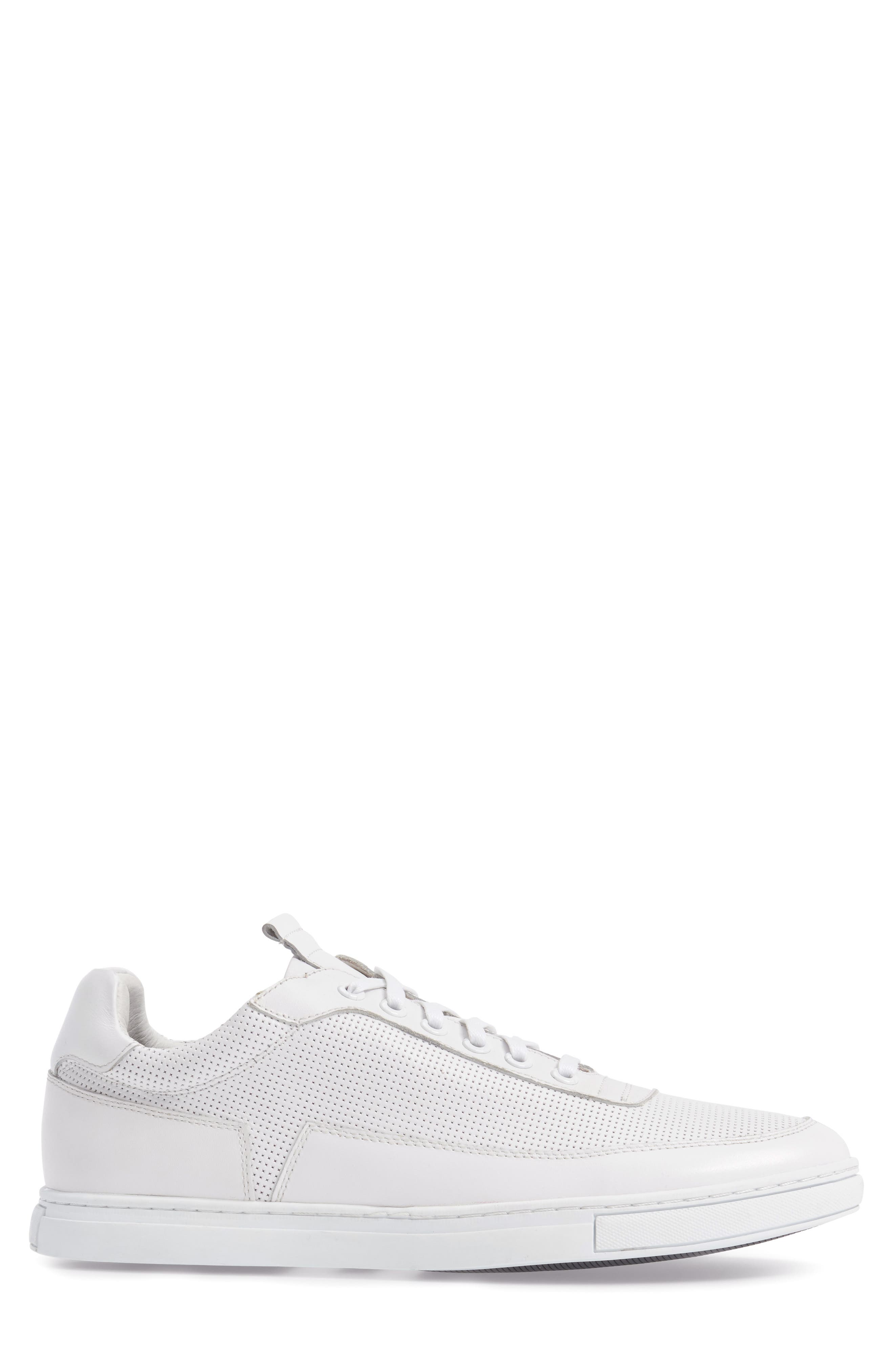Harmony Sneaker,                             Alternate thumbnail 3, color,                             WHITE LEATHER