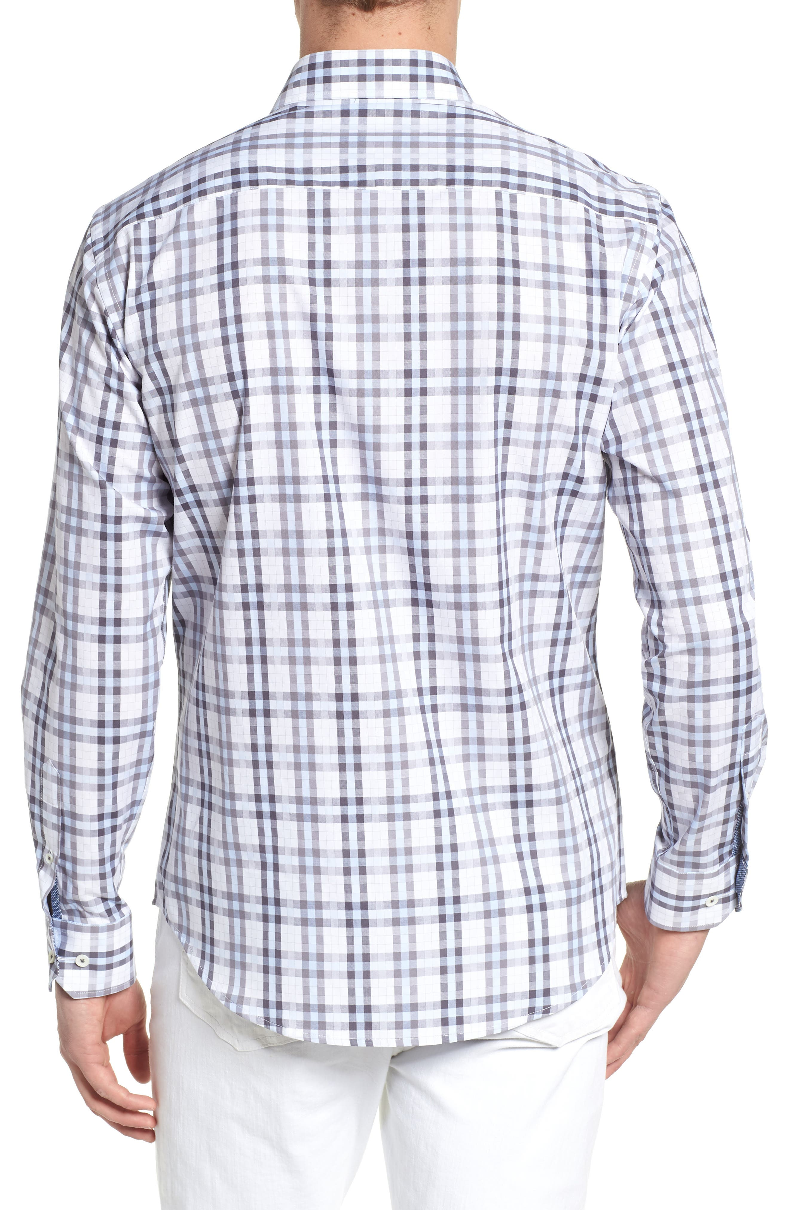 Shaped Fit Check Sport Shirt,                             Alternate thumbnail 2, color,                             459